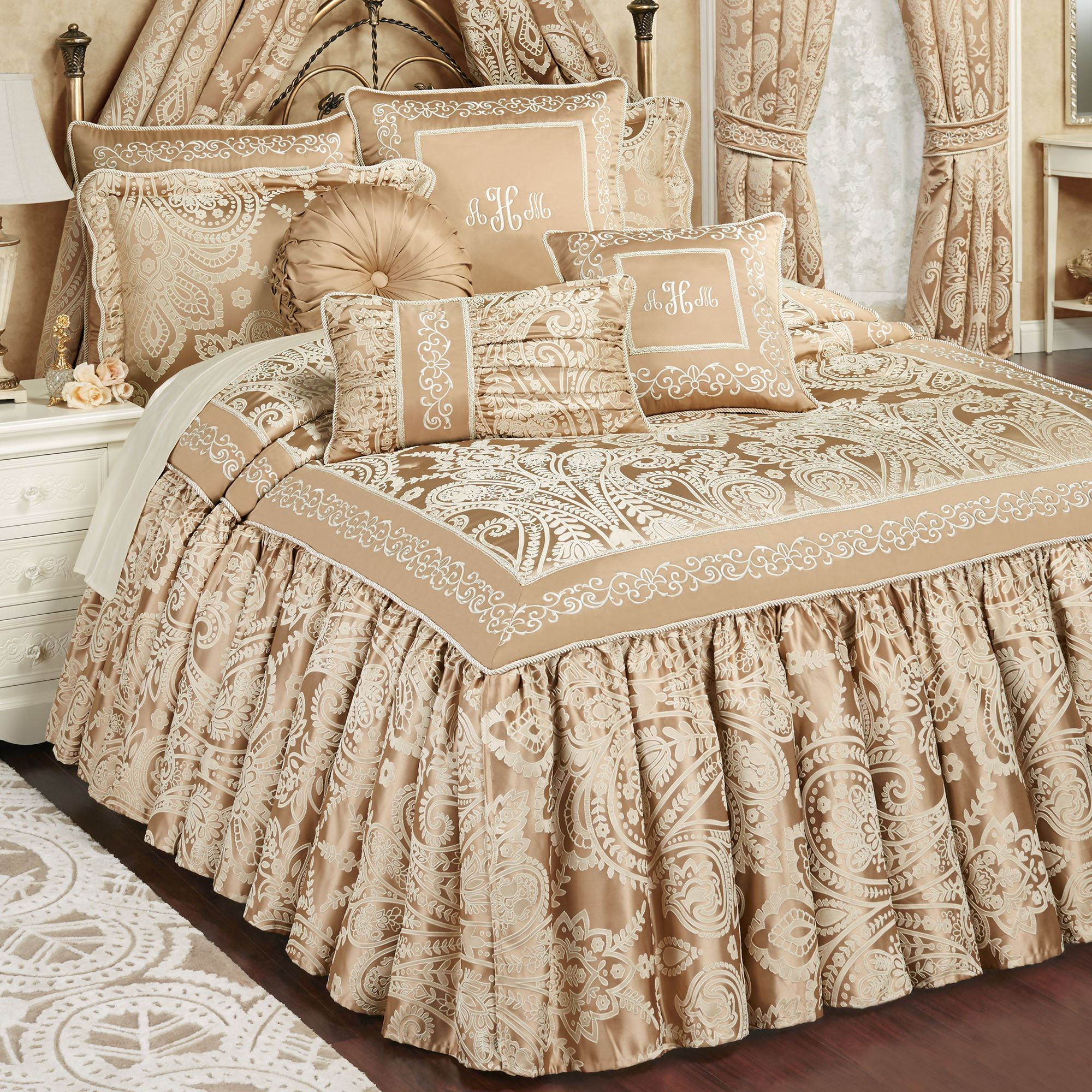 Monarch Golden Bronze Grande Flounce Bedspread