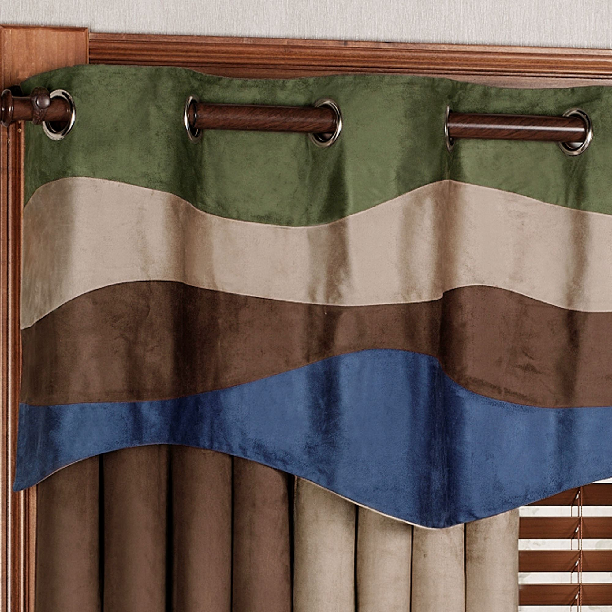 top curtains valance solid green grommet sage insulated color weathermate thermal
