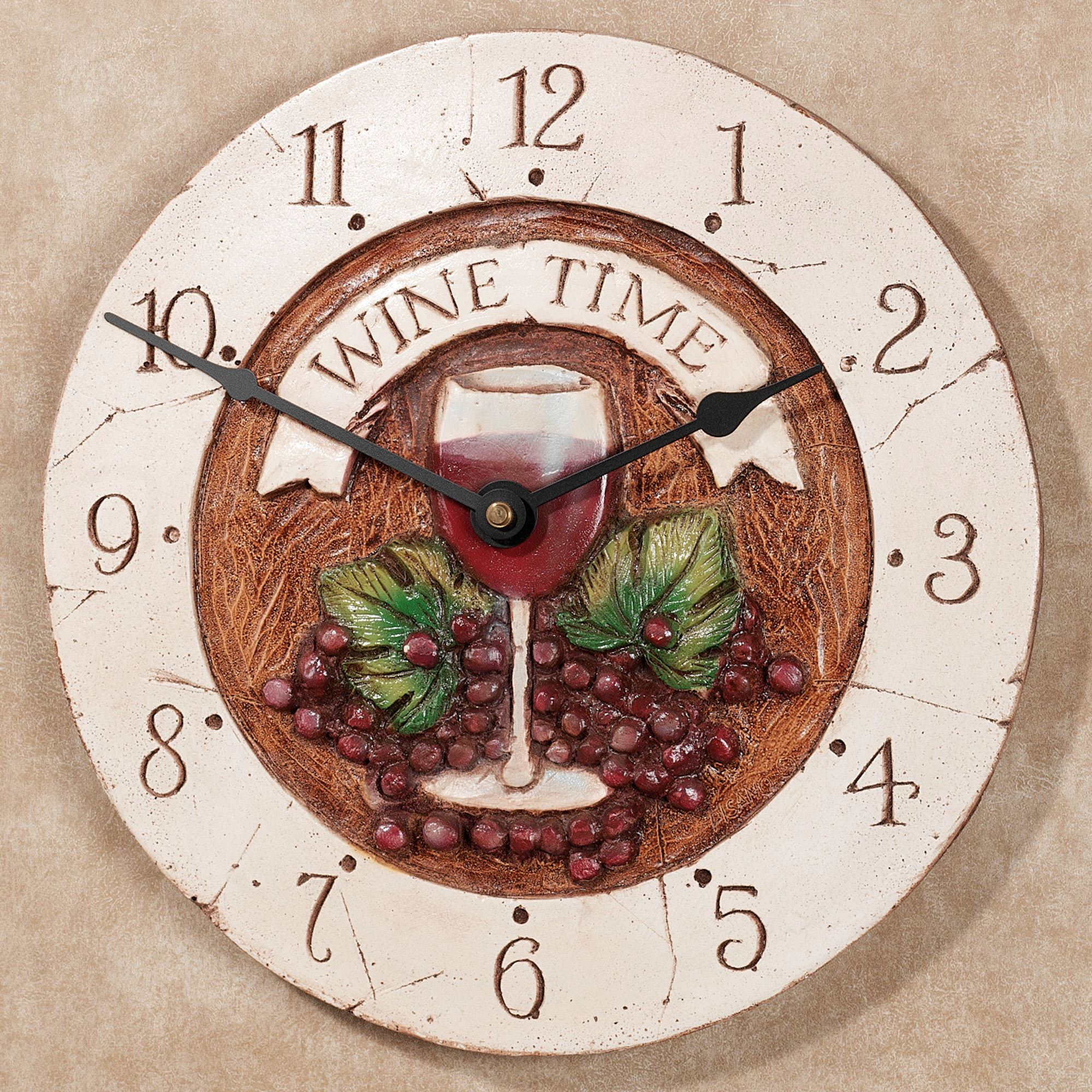 Wine Time Wall Clock. Click To Expand