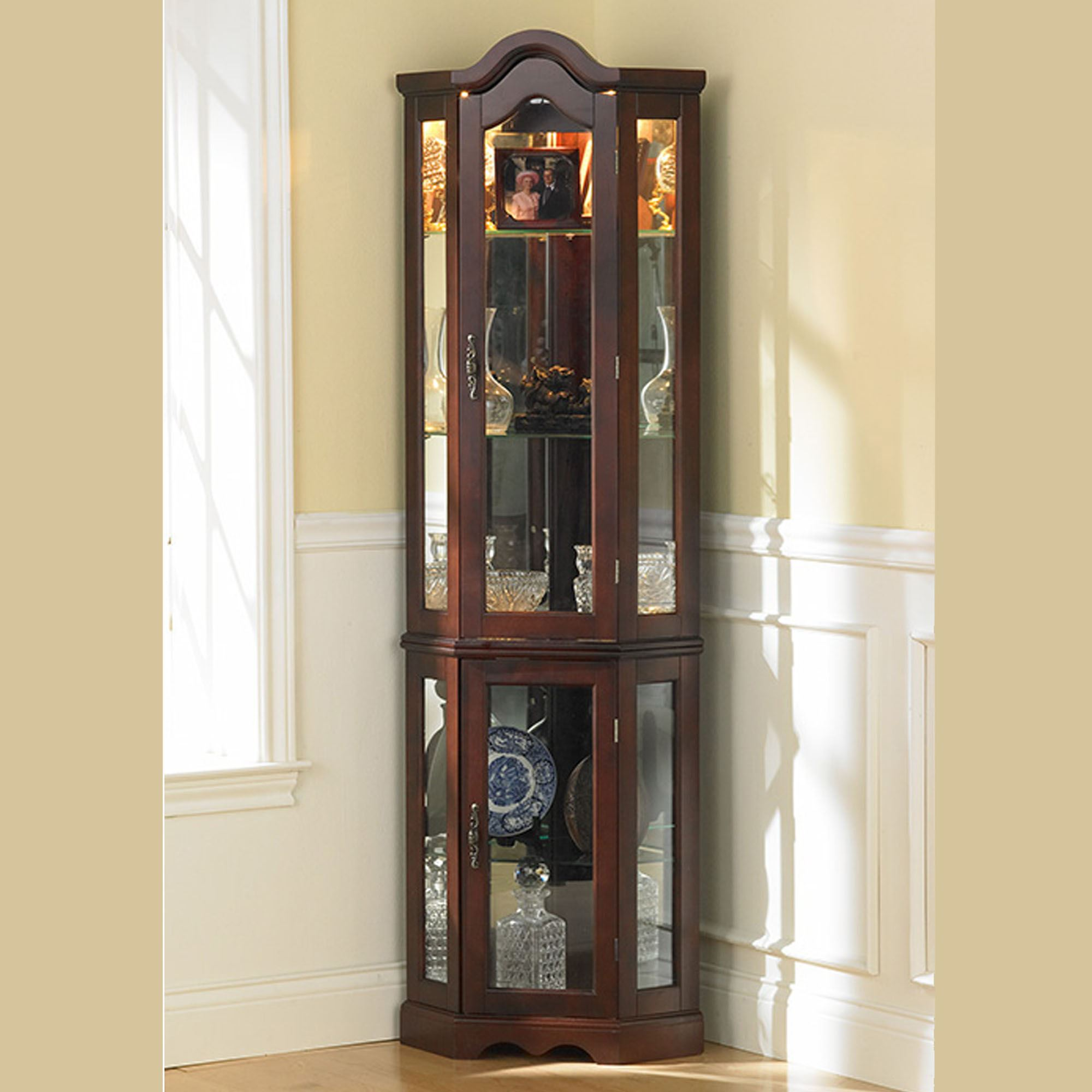 Ambridge Corner Curio Cabinet. Touch To Zoom