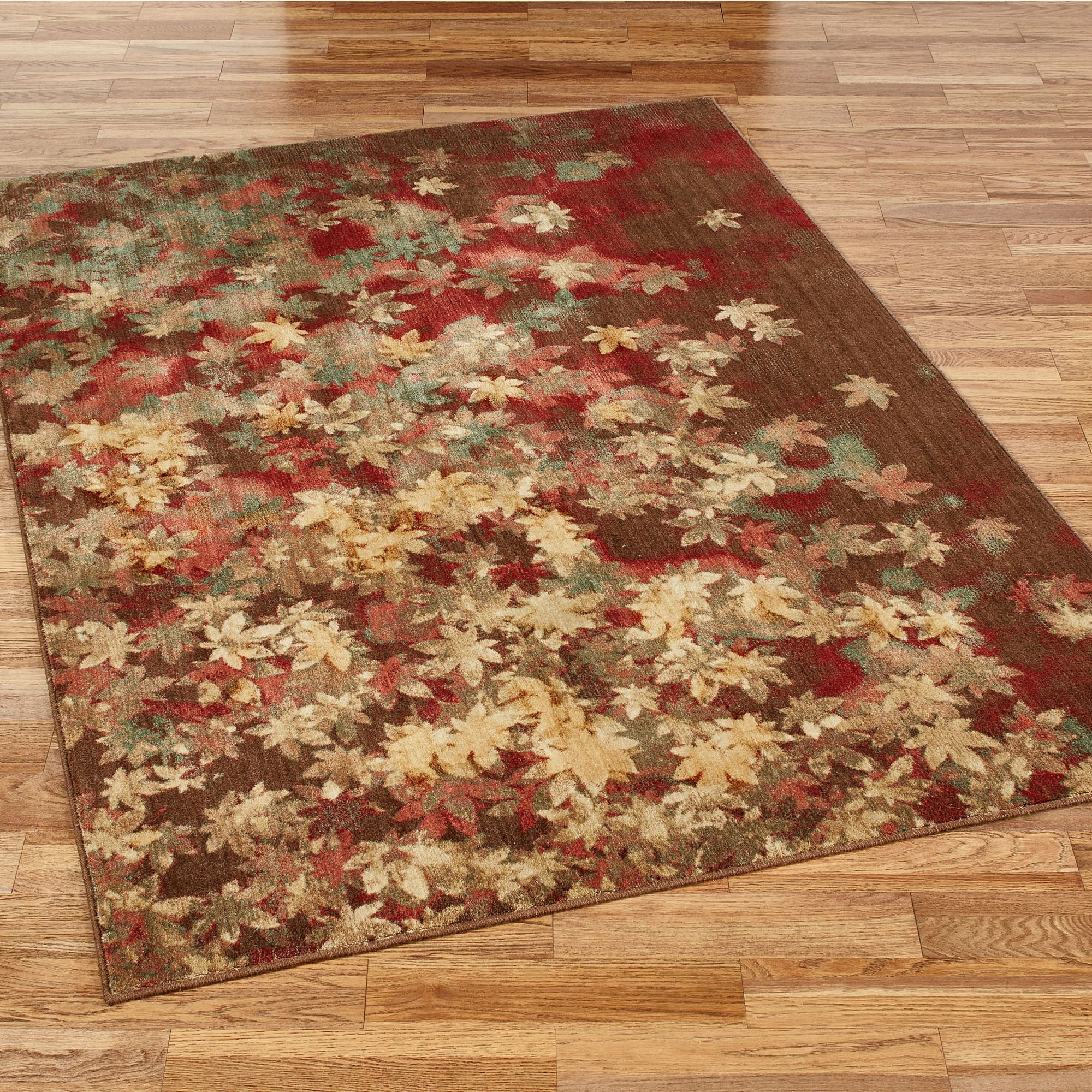 Fantastic Riverpark Autumn Leaf Area Rugs CI65