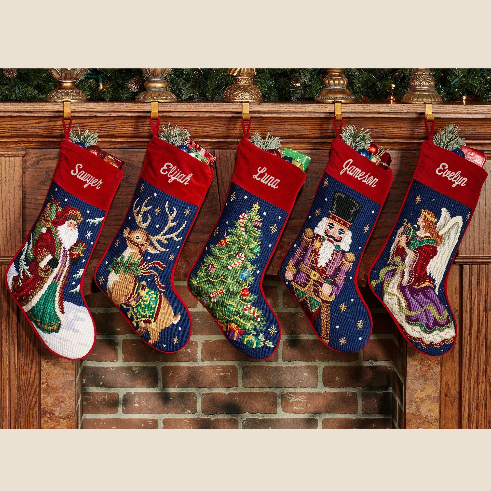 Needlepoint Christmas Stockings.Charming Needlepoint Christmas Stockings