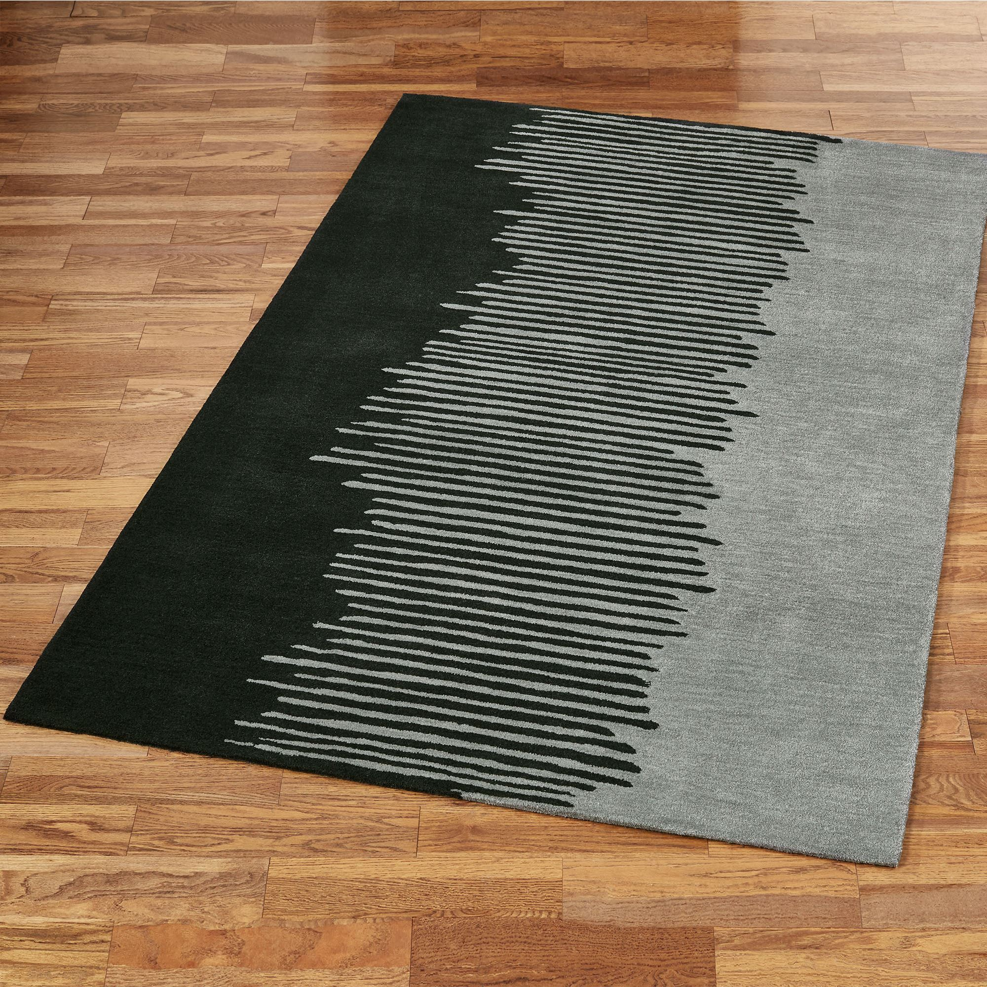 Dark Gray Contemporary Abstract Area Rugs