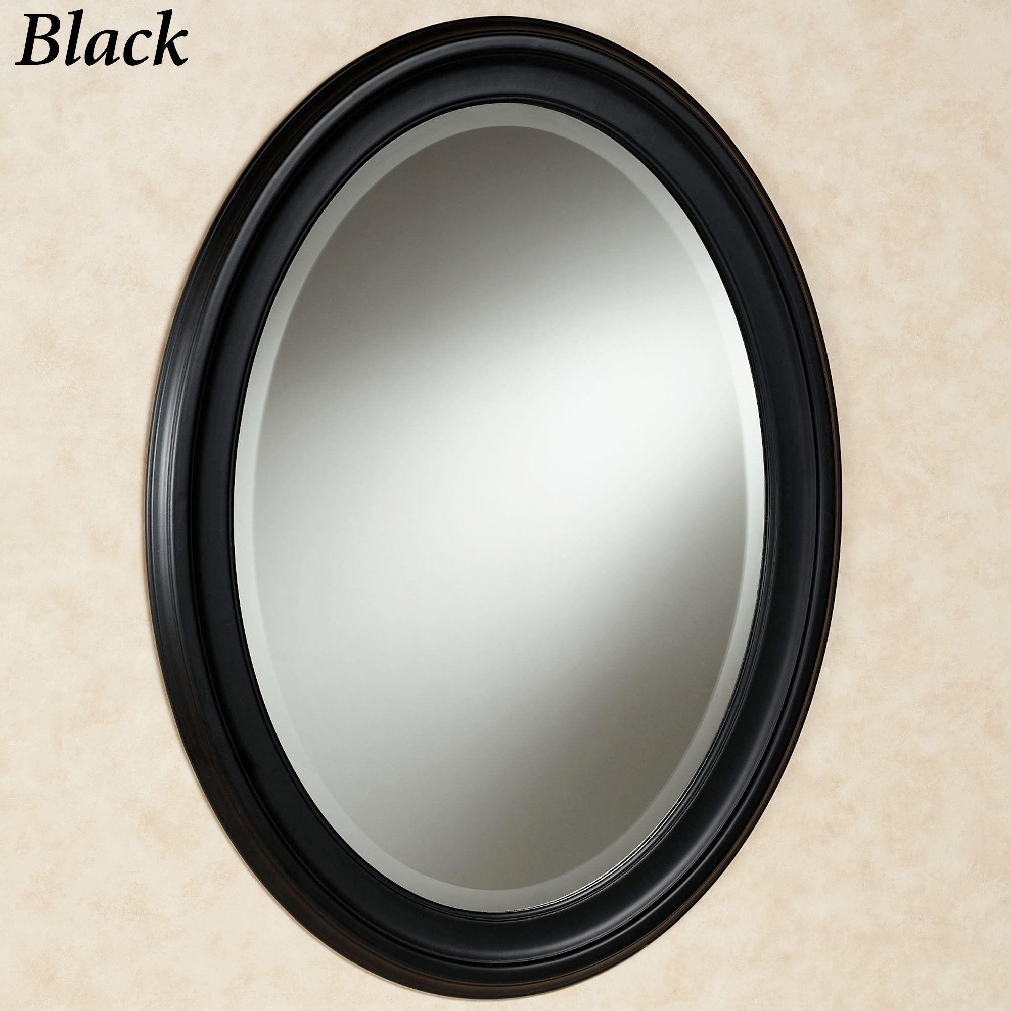 Loree Black Oval Wall Mirror