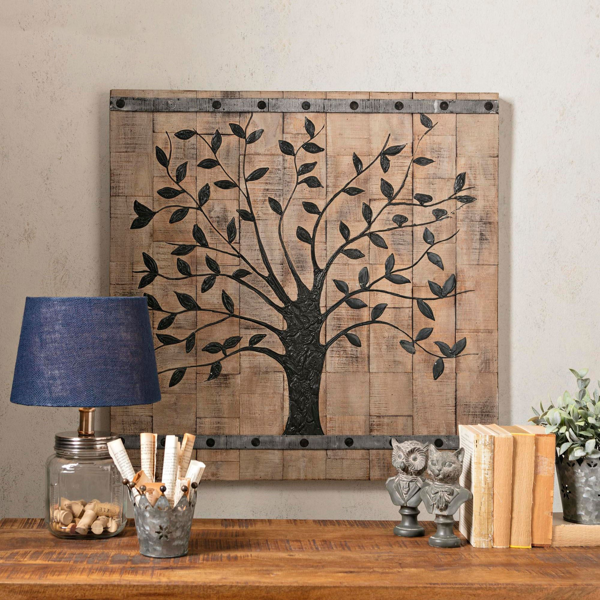 Tree Of Life Plank Style Wooden Wall Art