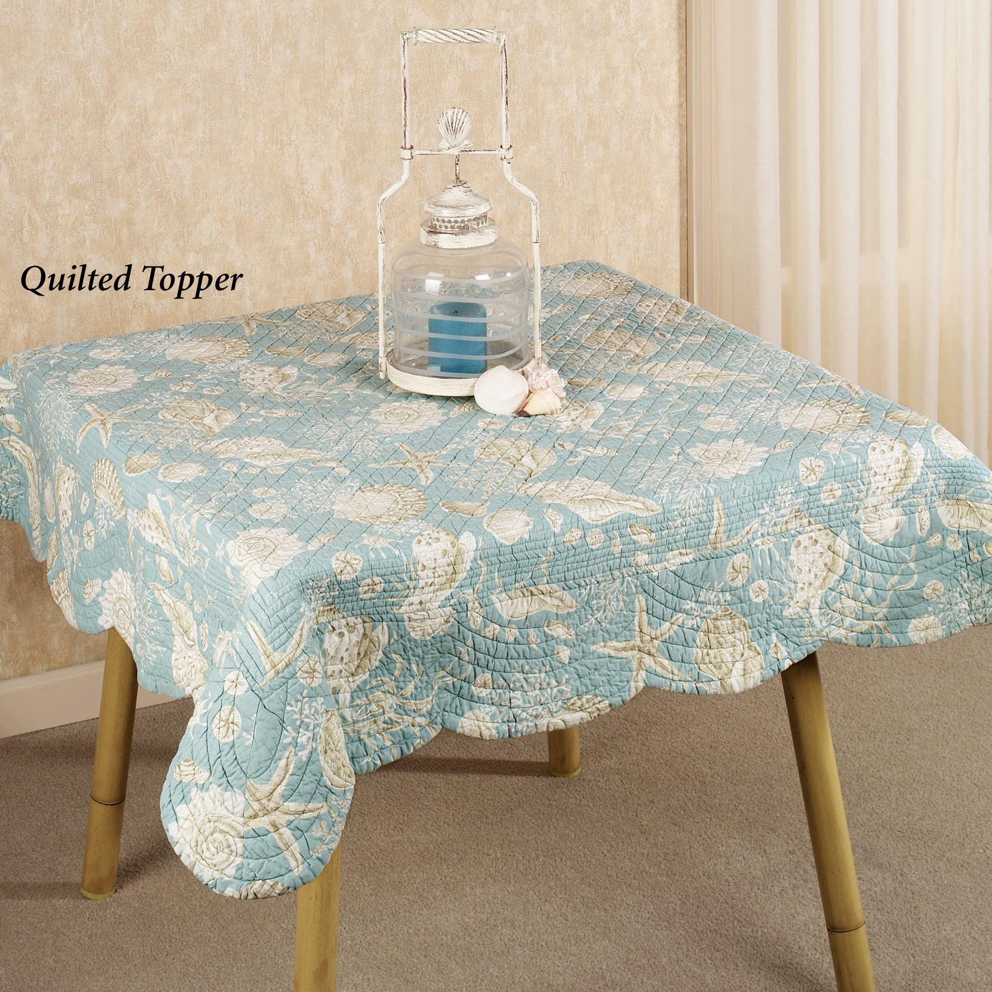 Natural Shells Reversible Quilted Table Linens