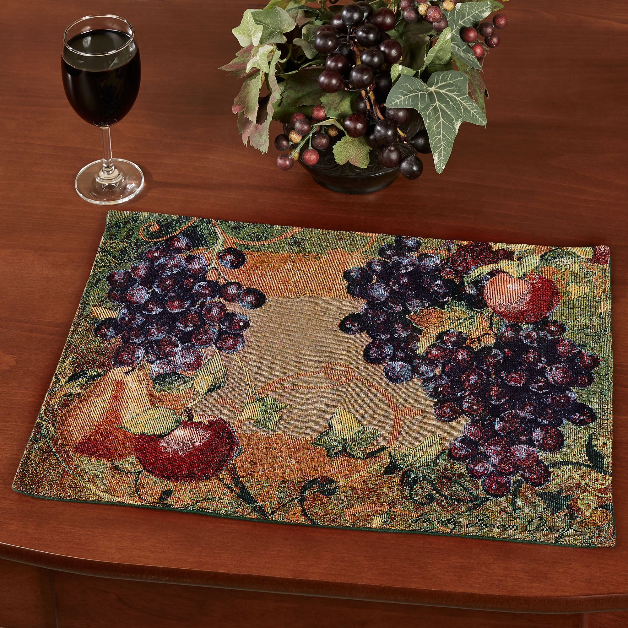 Tuscan Countryside Fruit Placemat Set Of 4