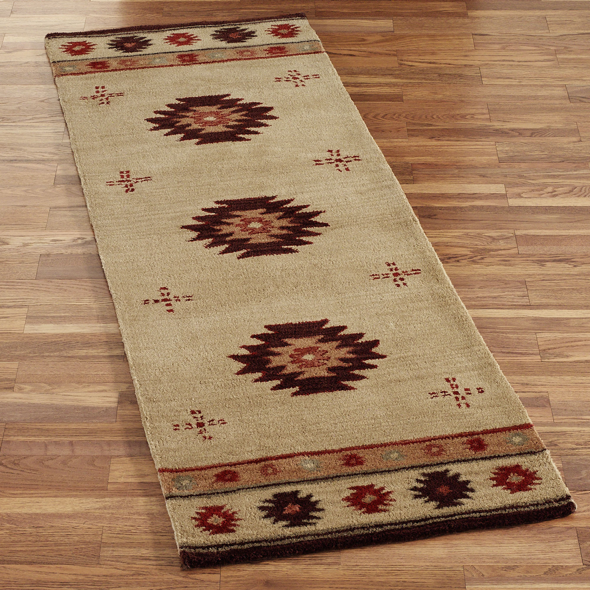 Southwest Diamond Wool Rug Runners