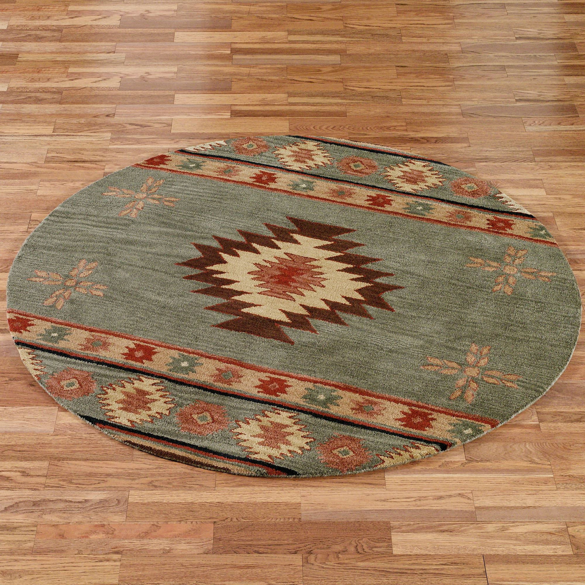 Southwest Diamond Round Rugs
