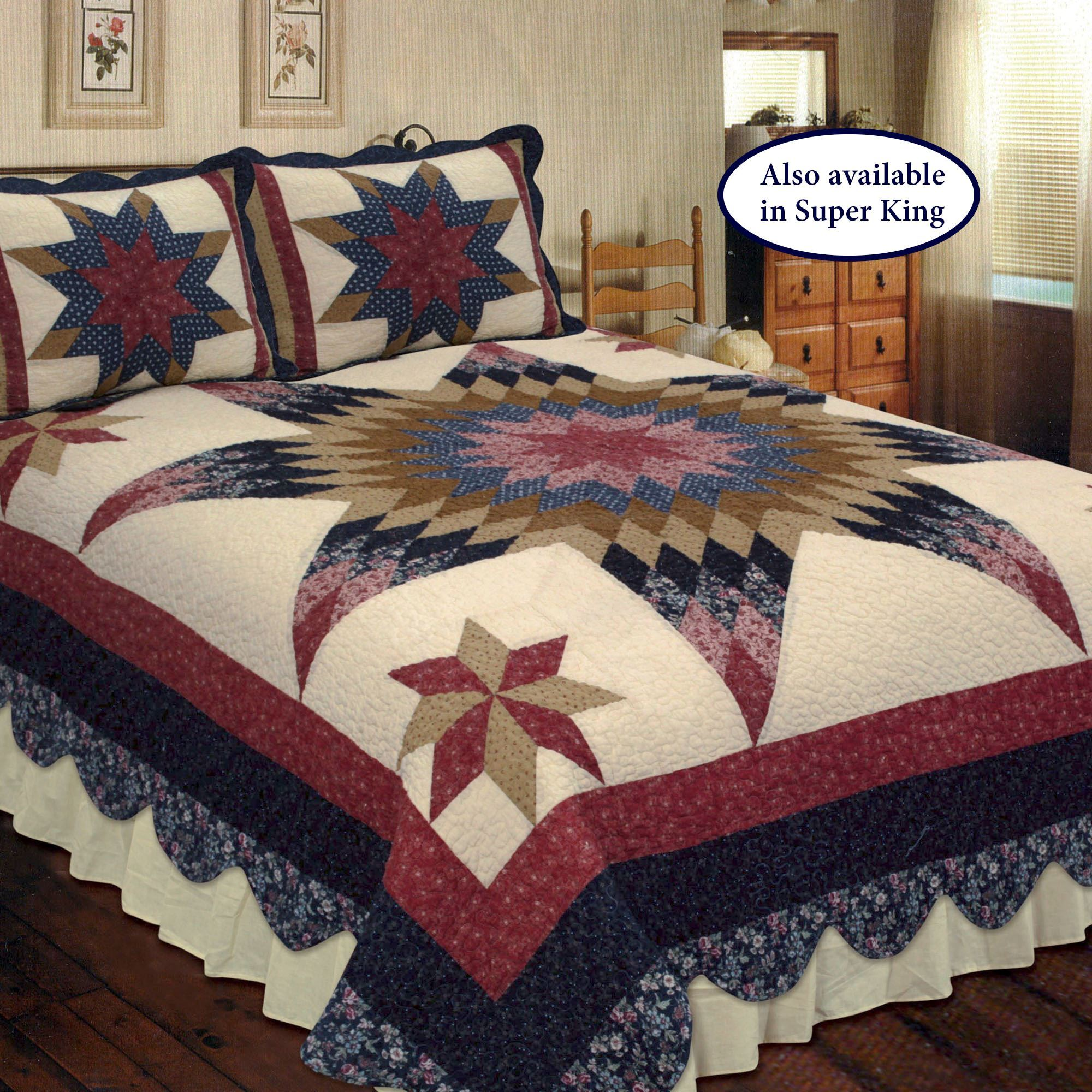 Prairie Star Patchwork Quilt Bedding