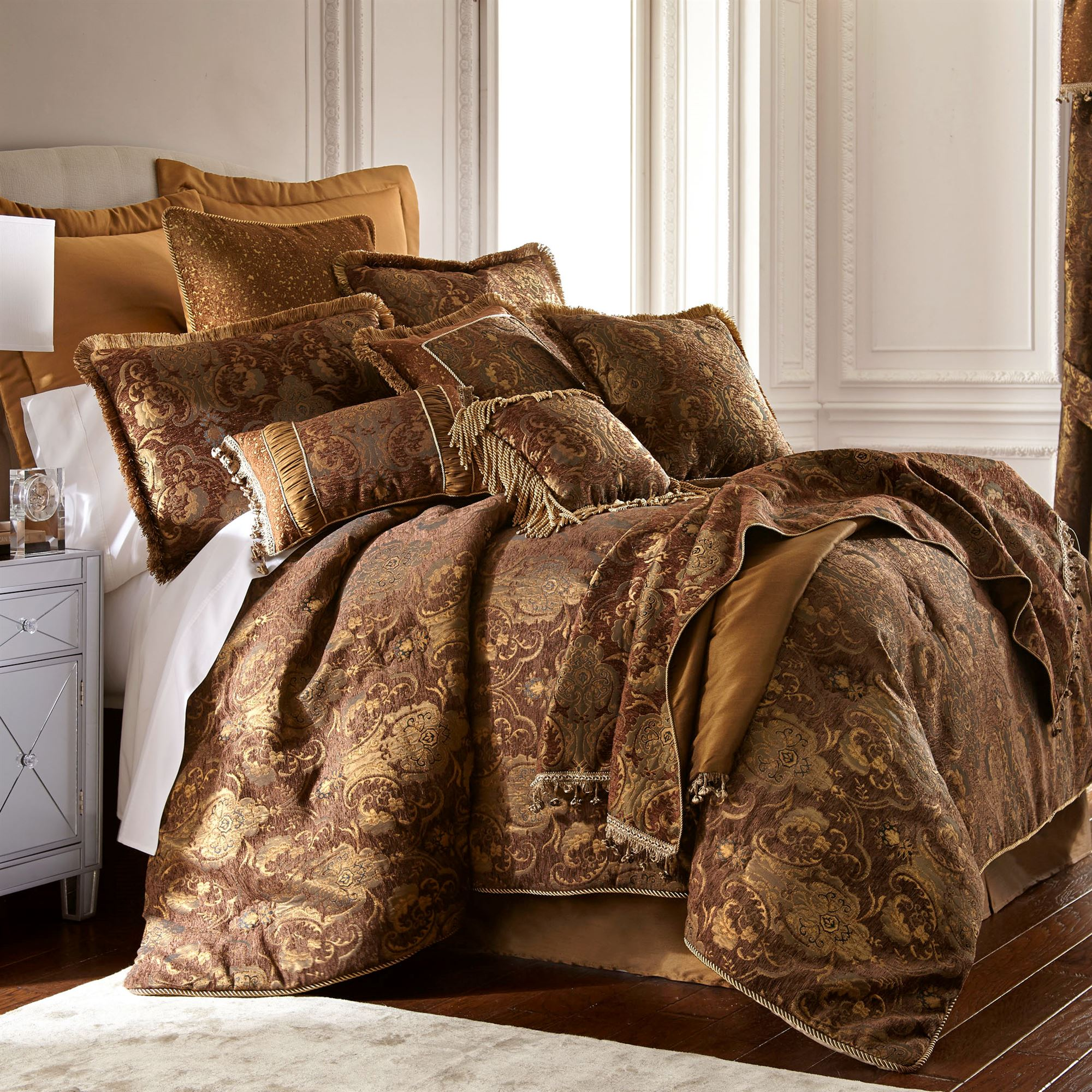 China Art Asian Inspired Brown Comforter Bedding By Sherry