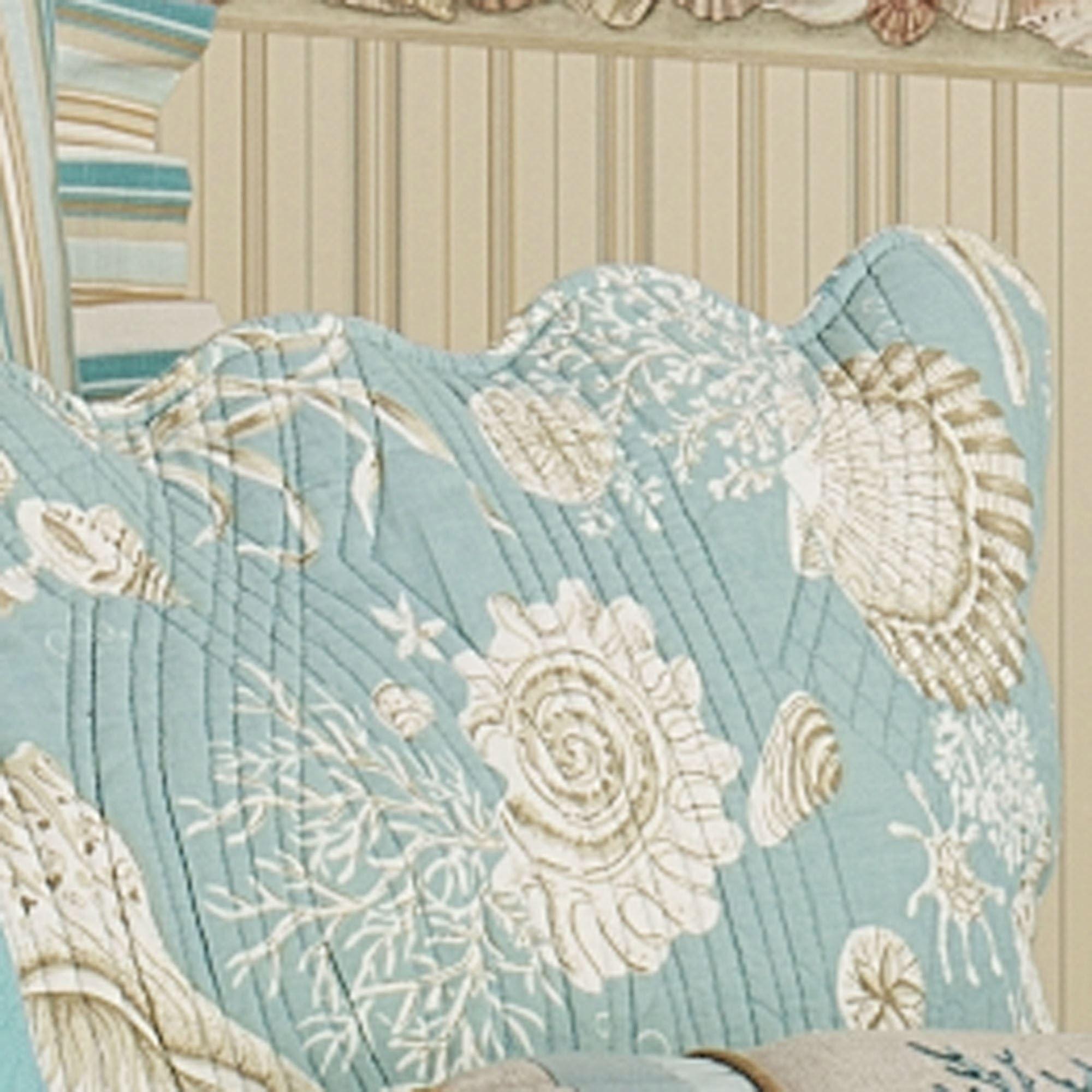 Natural Shells Coastal Quilt Bedding : natural shells quilt - Adamdwight.com