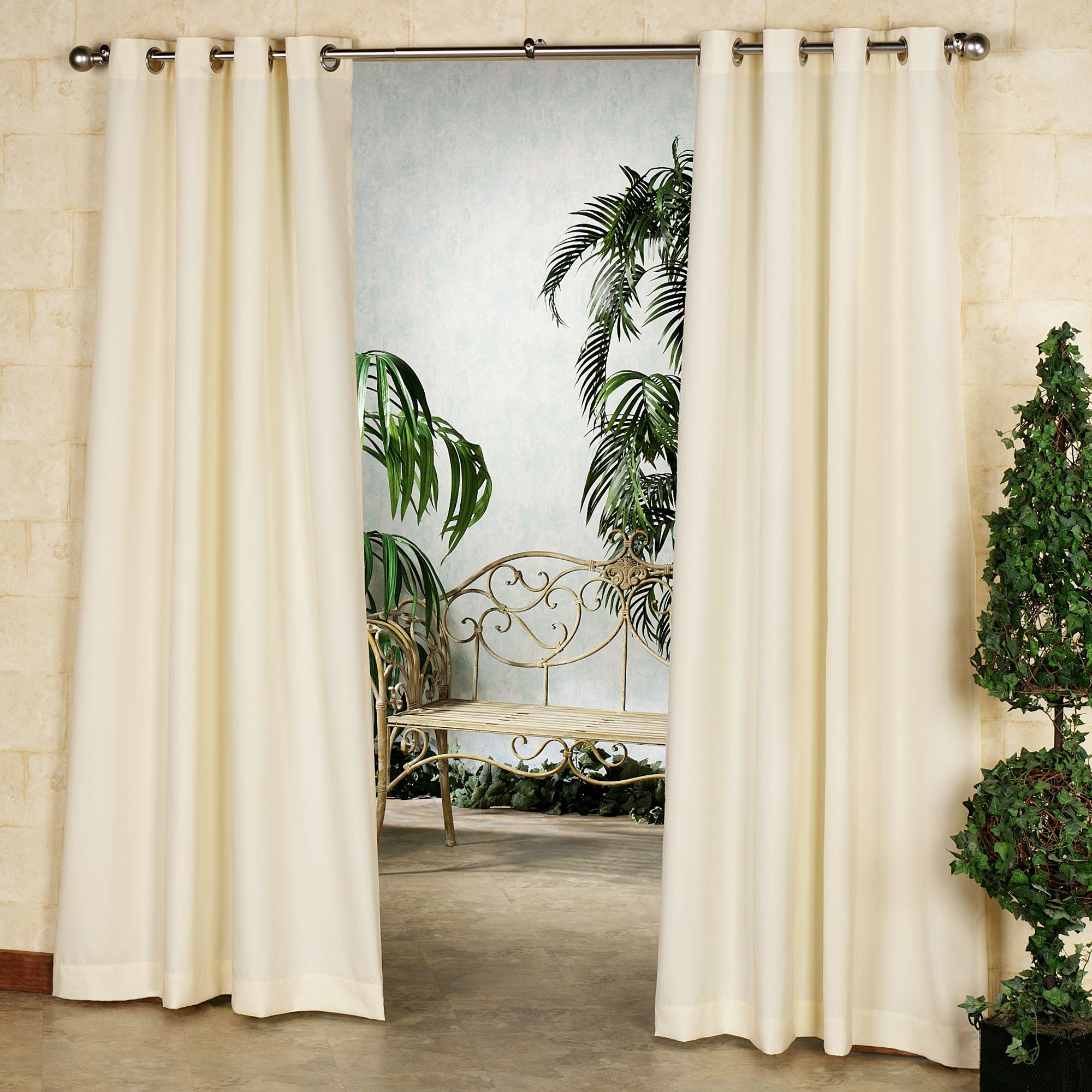 Gazebo Solid Color Indoor Outdoor Curtain Panels