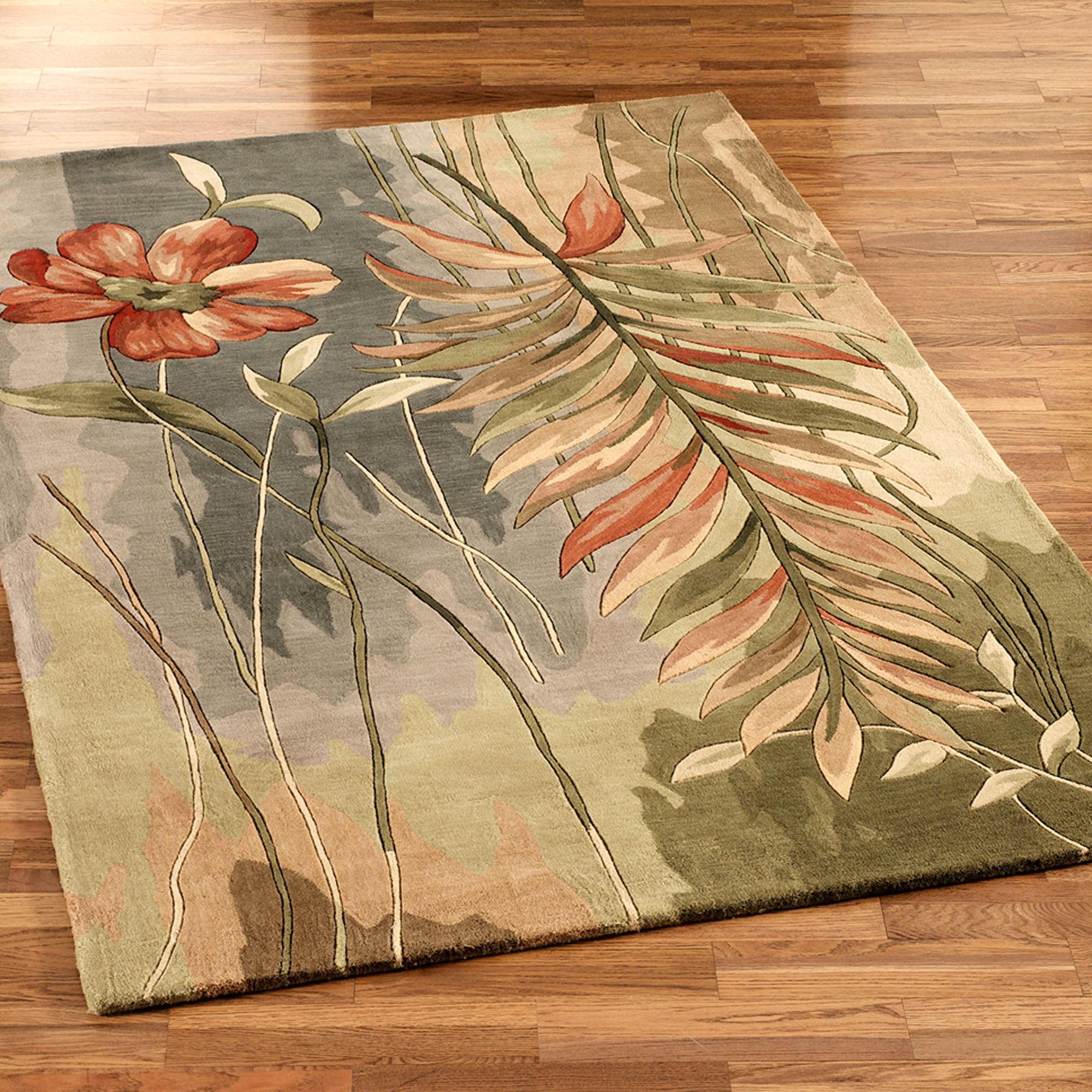 Island Oasis Tropical Area Rugs