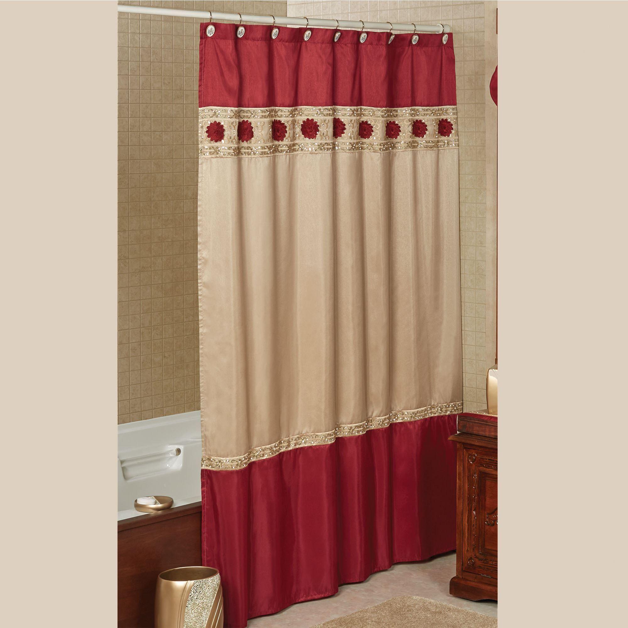 Prestige Faux Silk Shower Curtain
