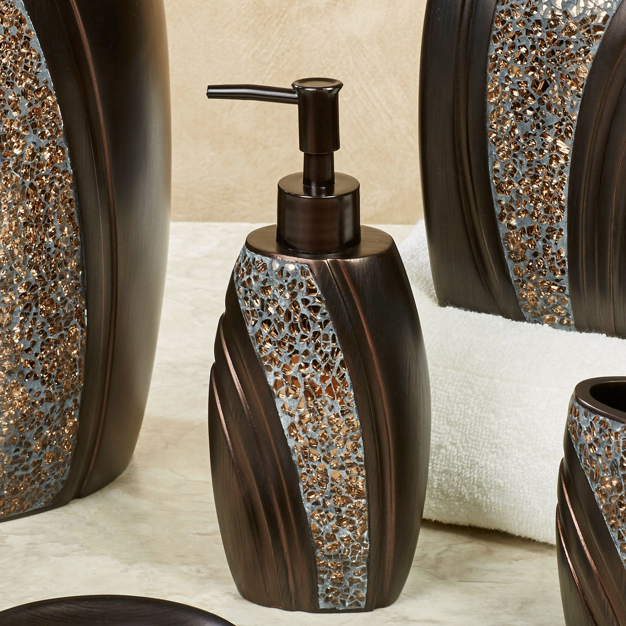 The best 100 brown mosaic bathroom accessories image for Bella lux bathroom accessories uk