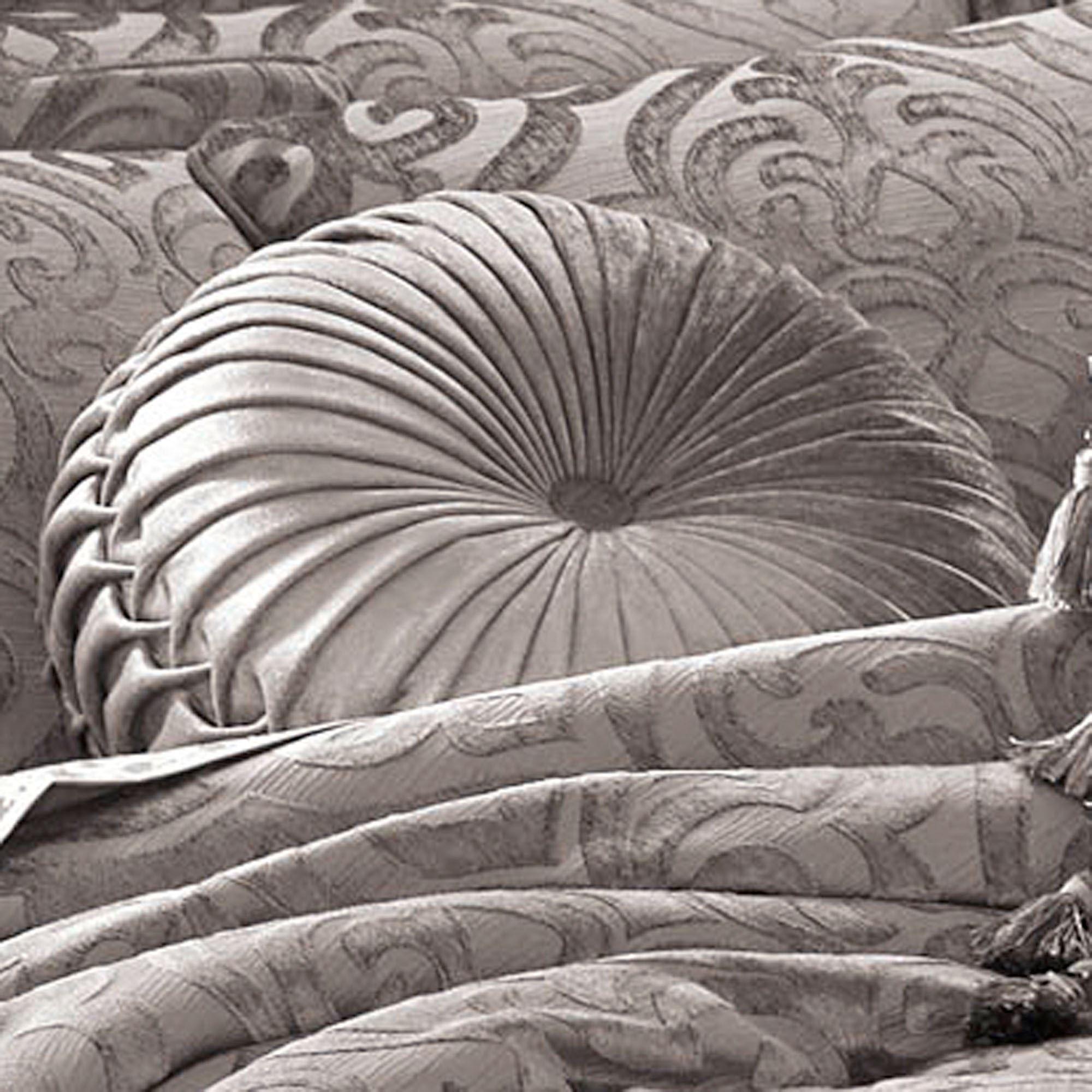 Sicily Silver Gray Medallion Comforter Bedding By J Queen