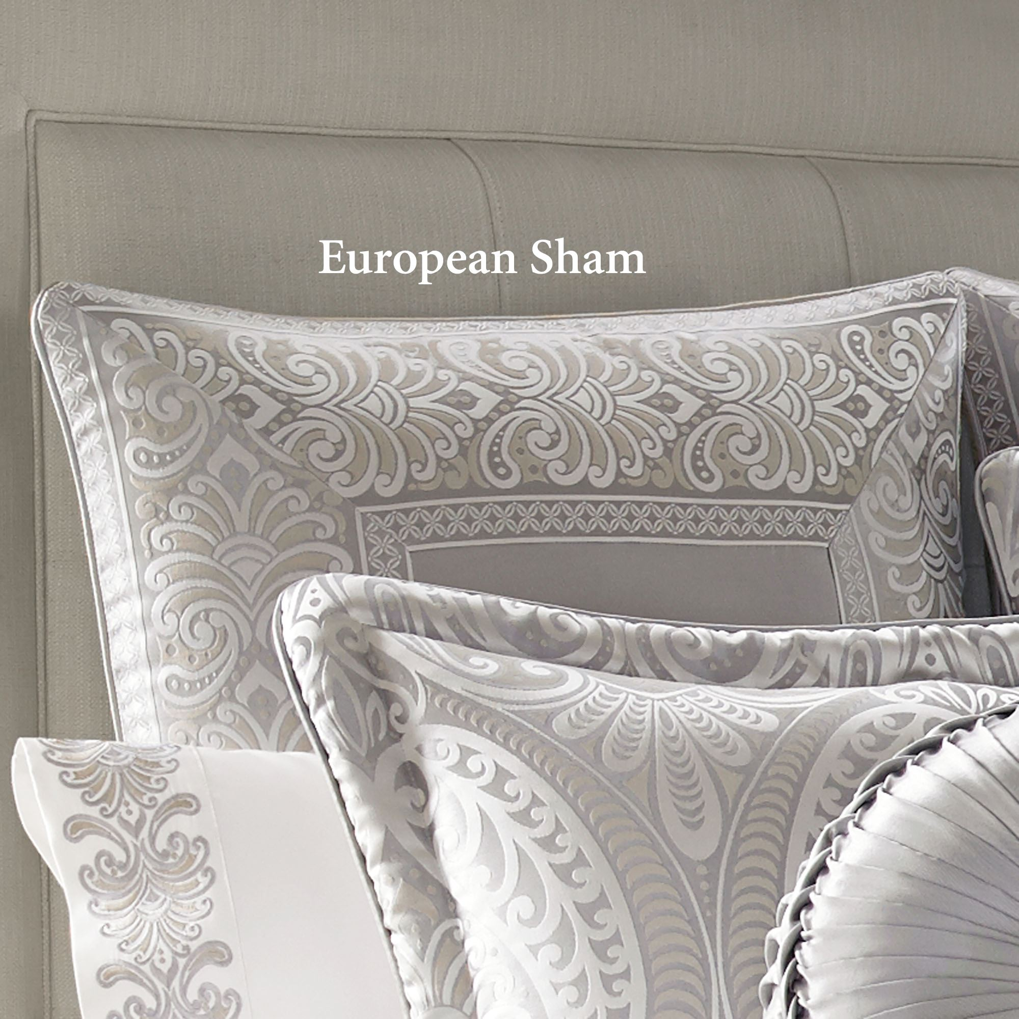 Le Blanc Silver Comforter Bedding By J Queen New York