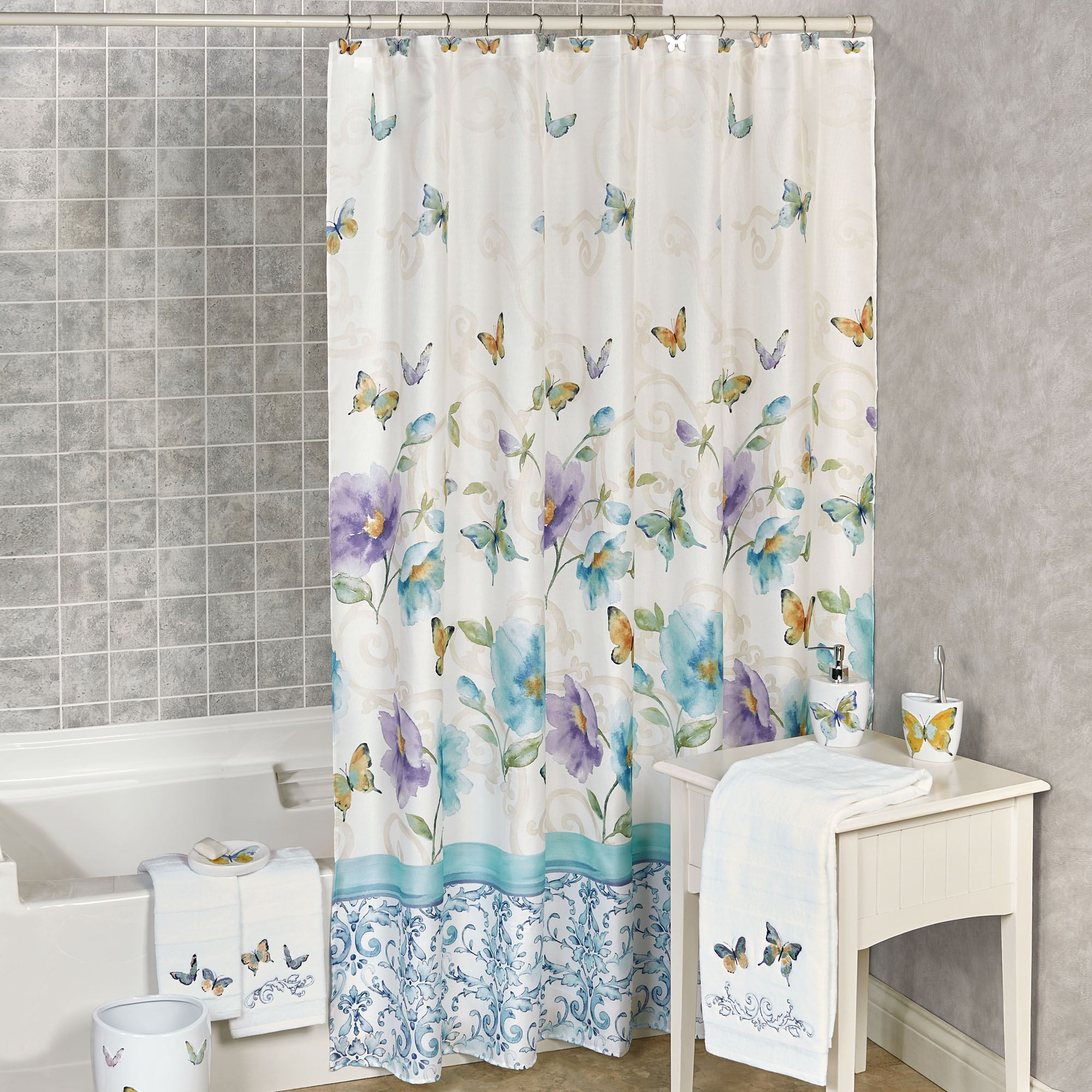 floral shower curtain. Watercolor Garden Shower Curtain Multi Cool 70 X 72 Floral
