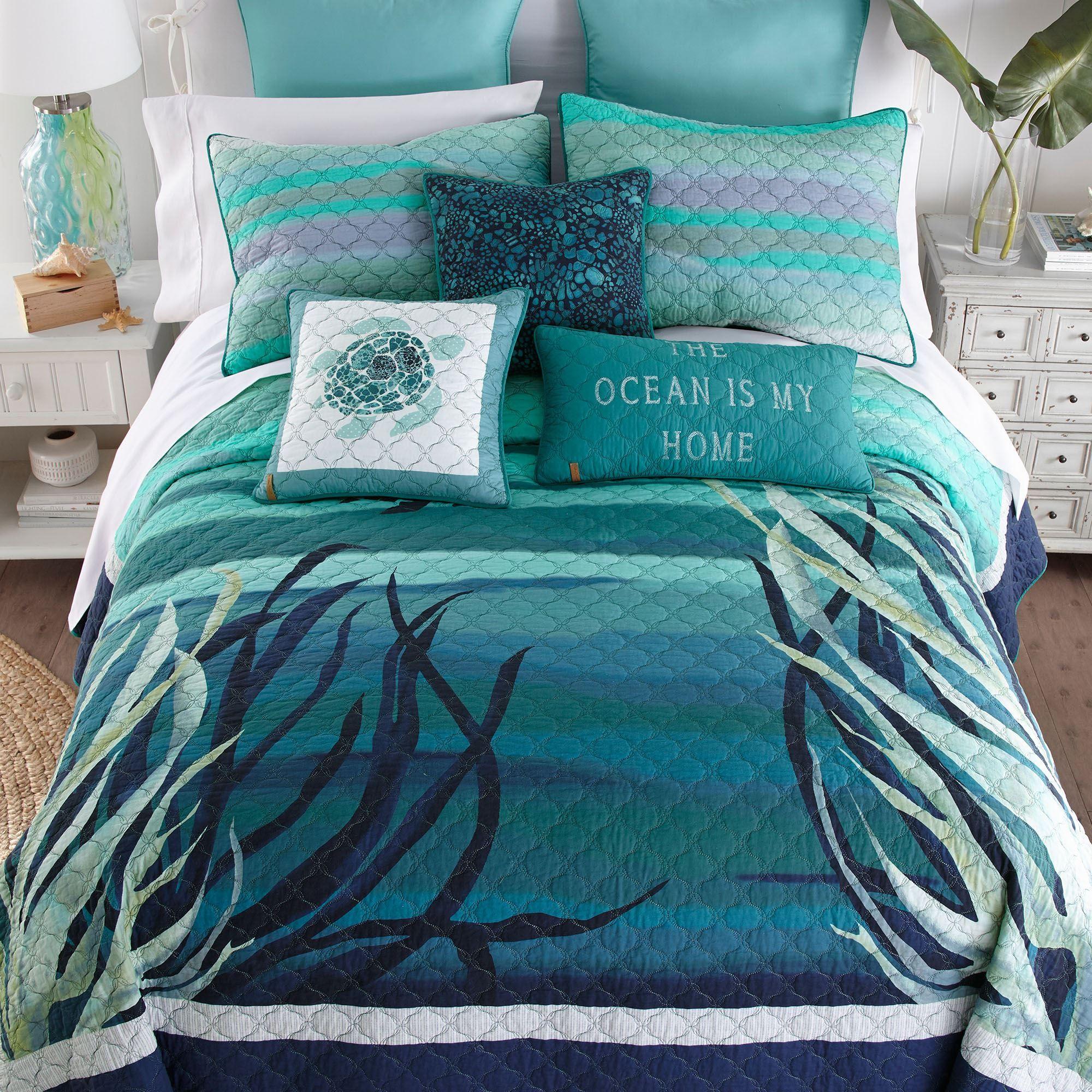 Summer Surf Ocean Quilt Bedding By Donna Sharp