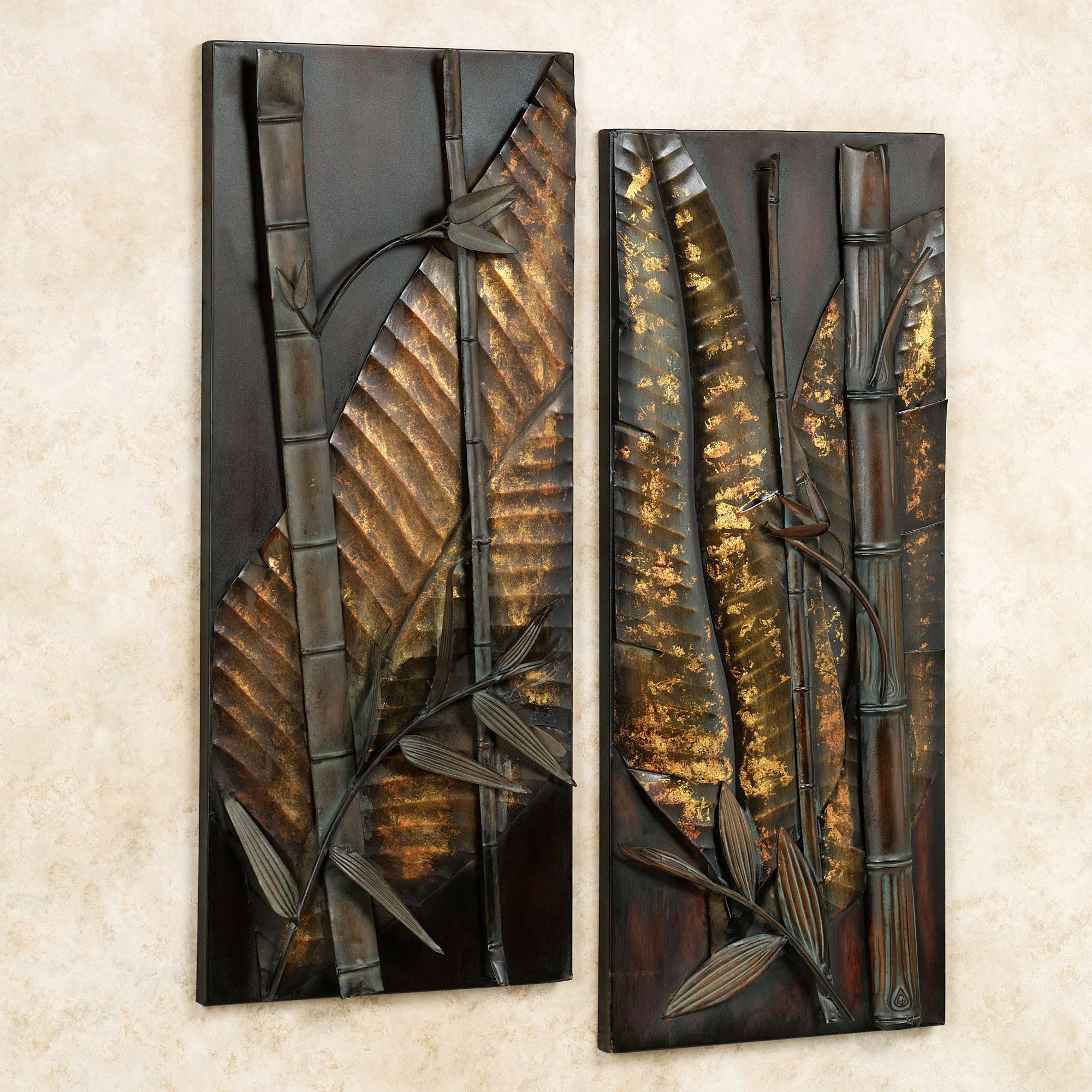 Zen essence metal wall art set for Tropical metal wall art