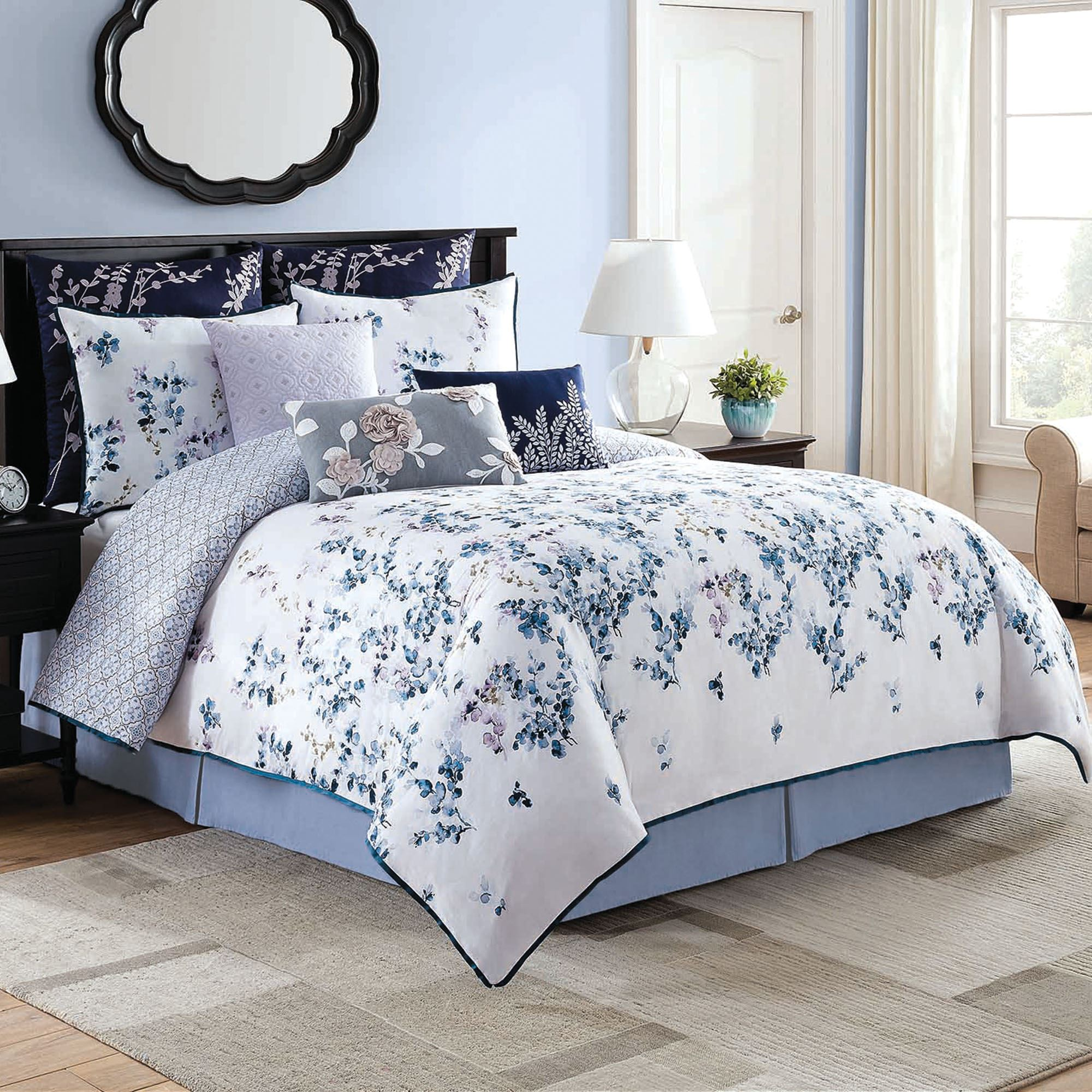 Willow Floral Comforter Bedding