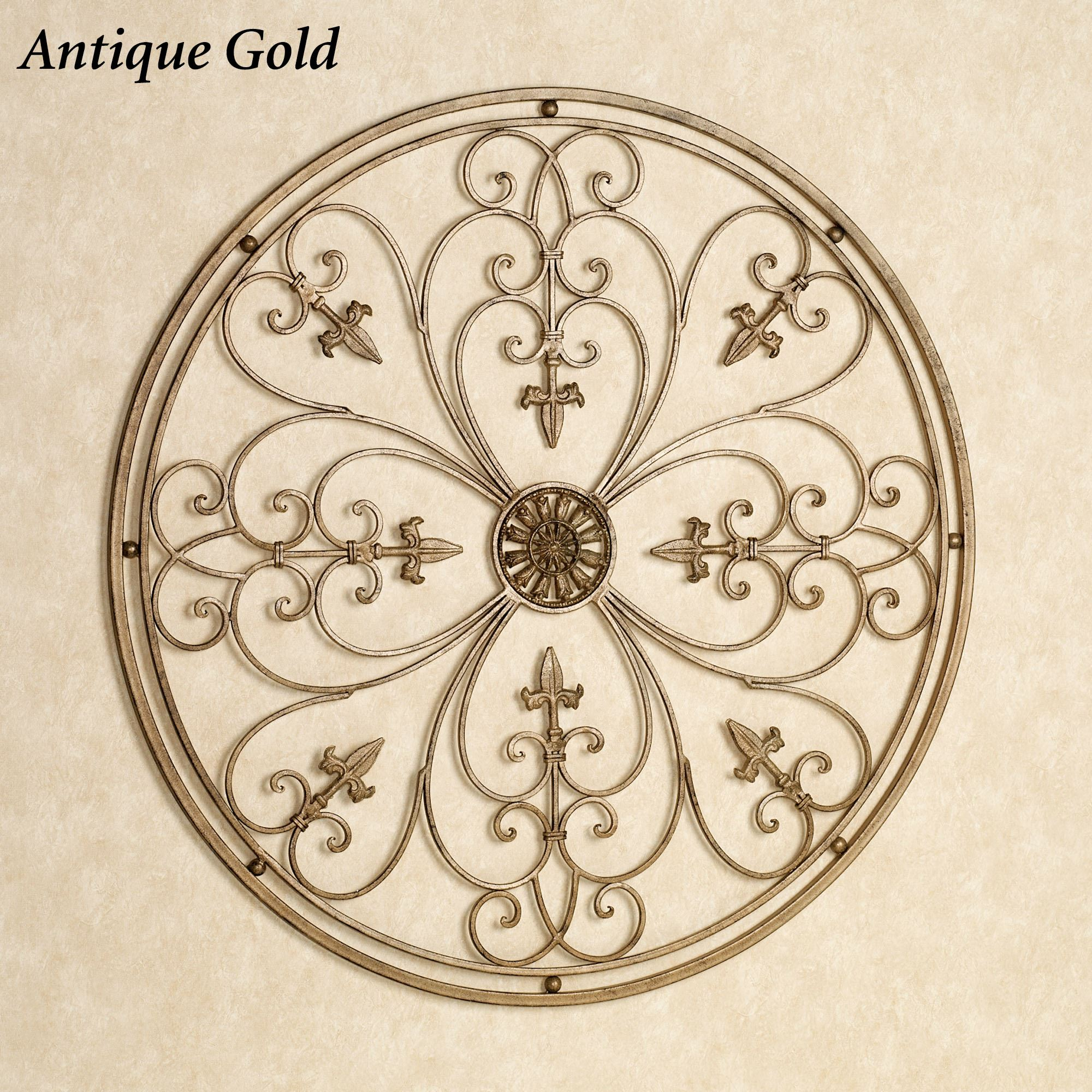 Wrought Iron Wall Grille Ravenna Round Wrought Iron Wall Grille