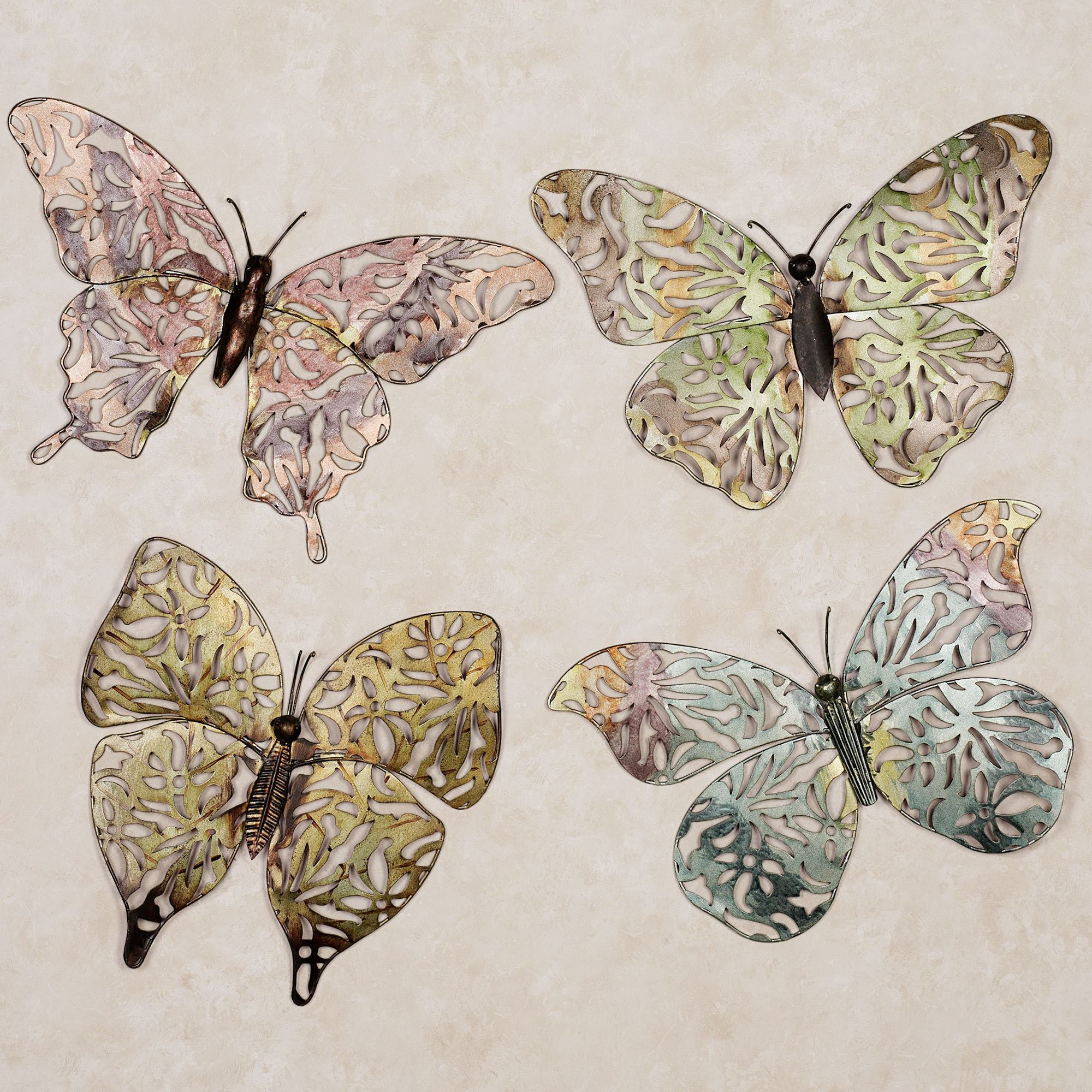 Spring Erfly Metal Wall Art Set