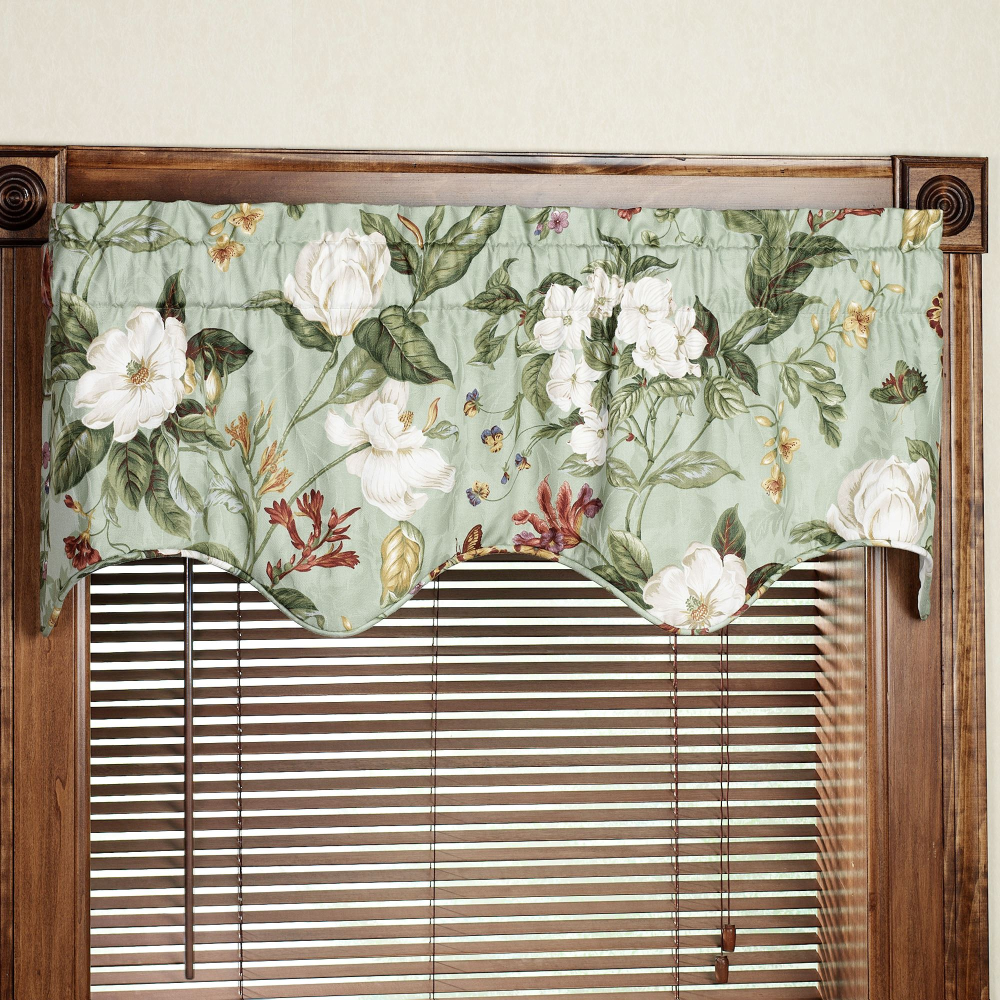 valance ballad product of waverly blue christmas window valances bouquet set xxx do