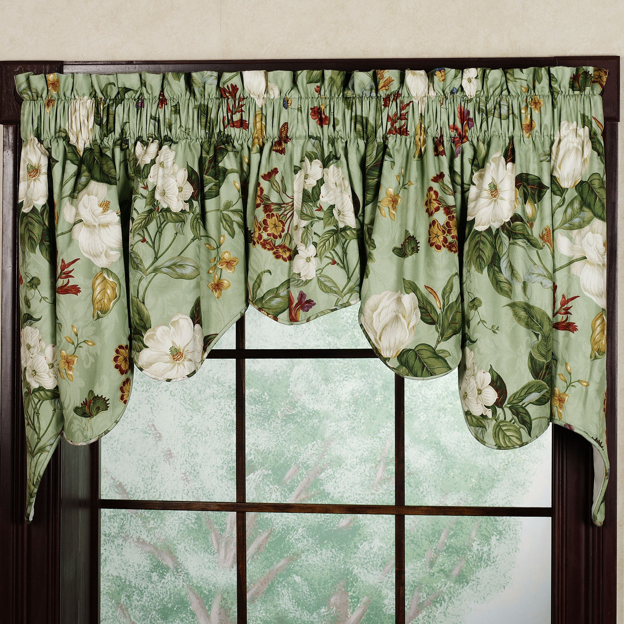 Wonderful Garden Duchess Swag Valance Pair by Waverly DN57