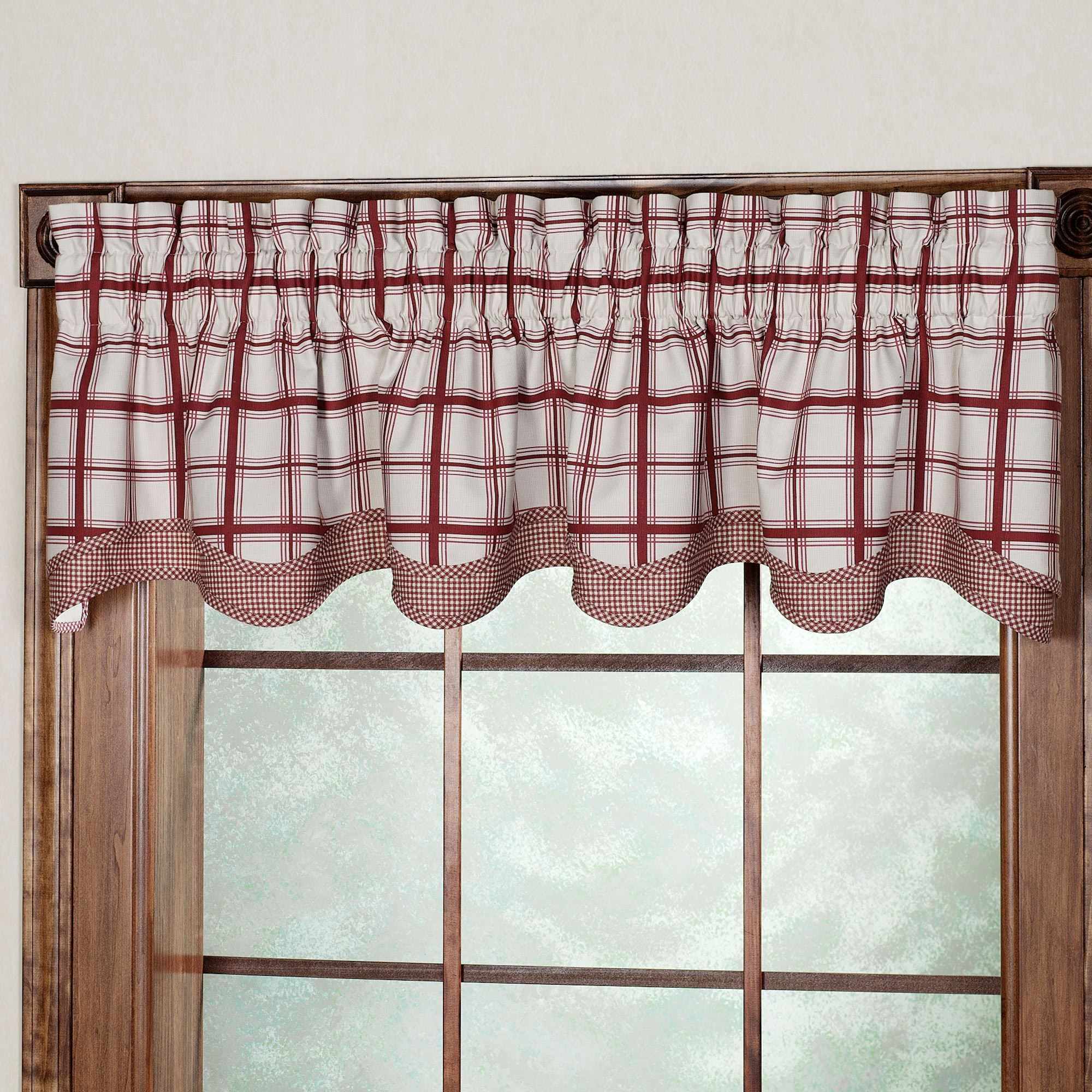 buffalo material valance furniture curtain awesome of curtains plaid fresh
