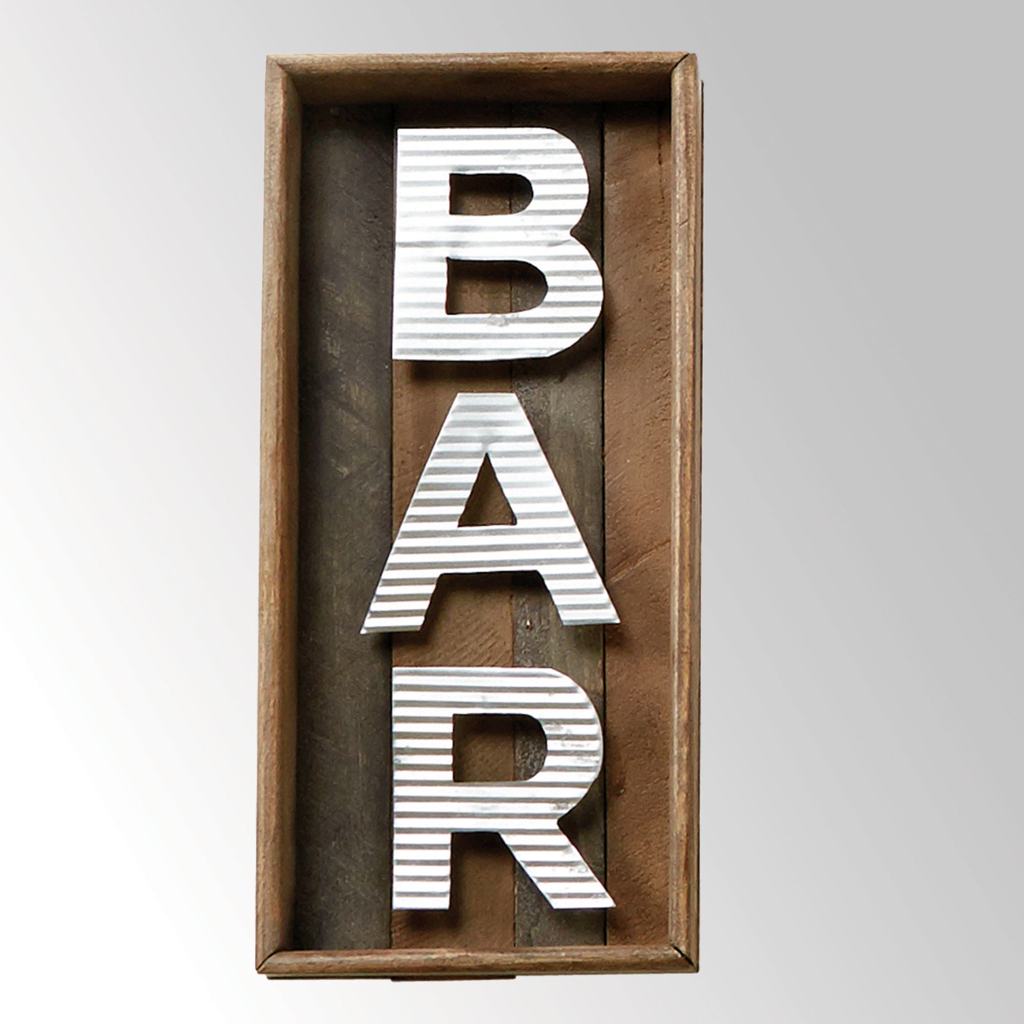 Bar Word Wall Plaque Brown