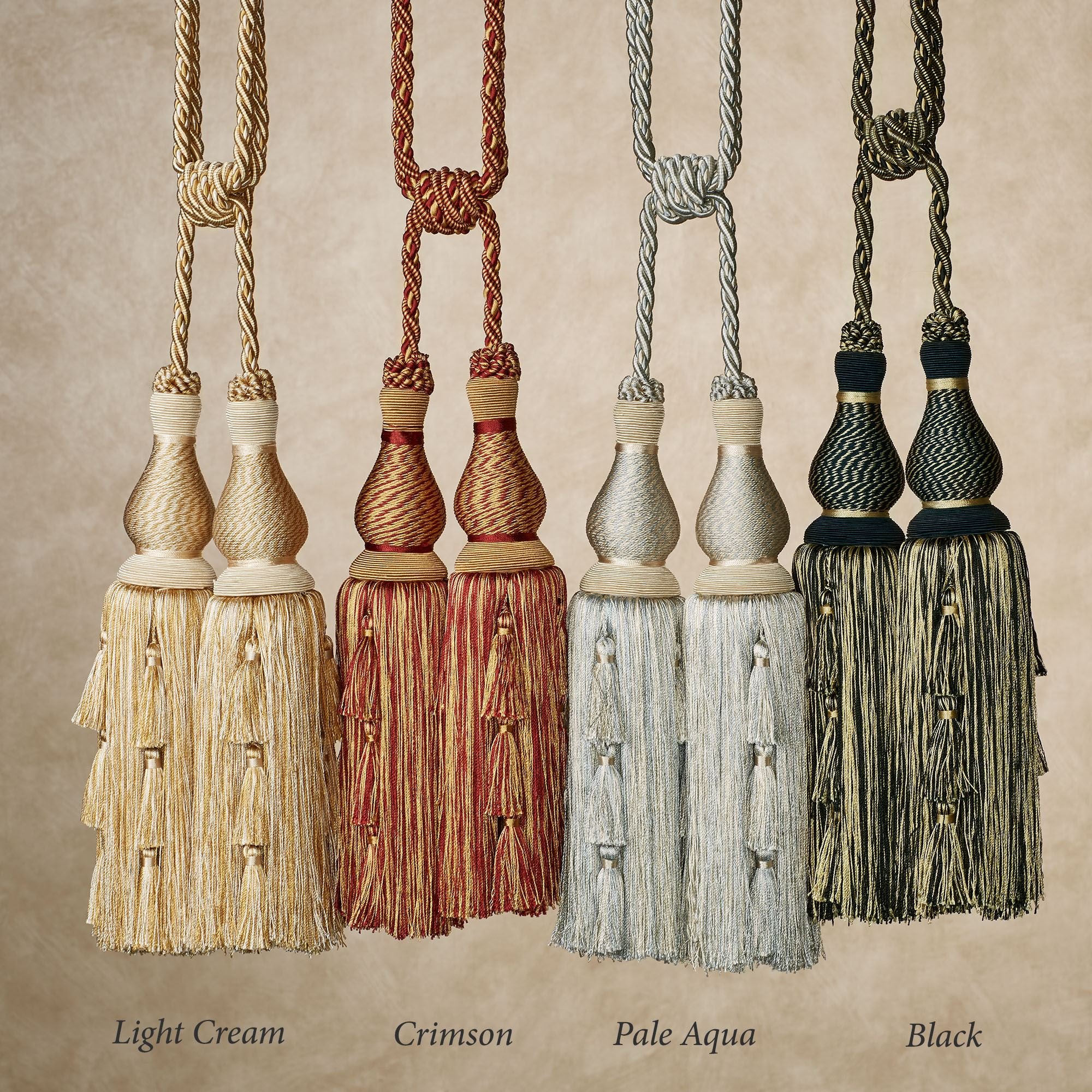 Pena Decorative Tassel Tieback Set