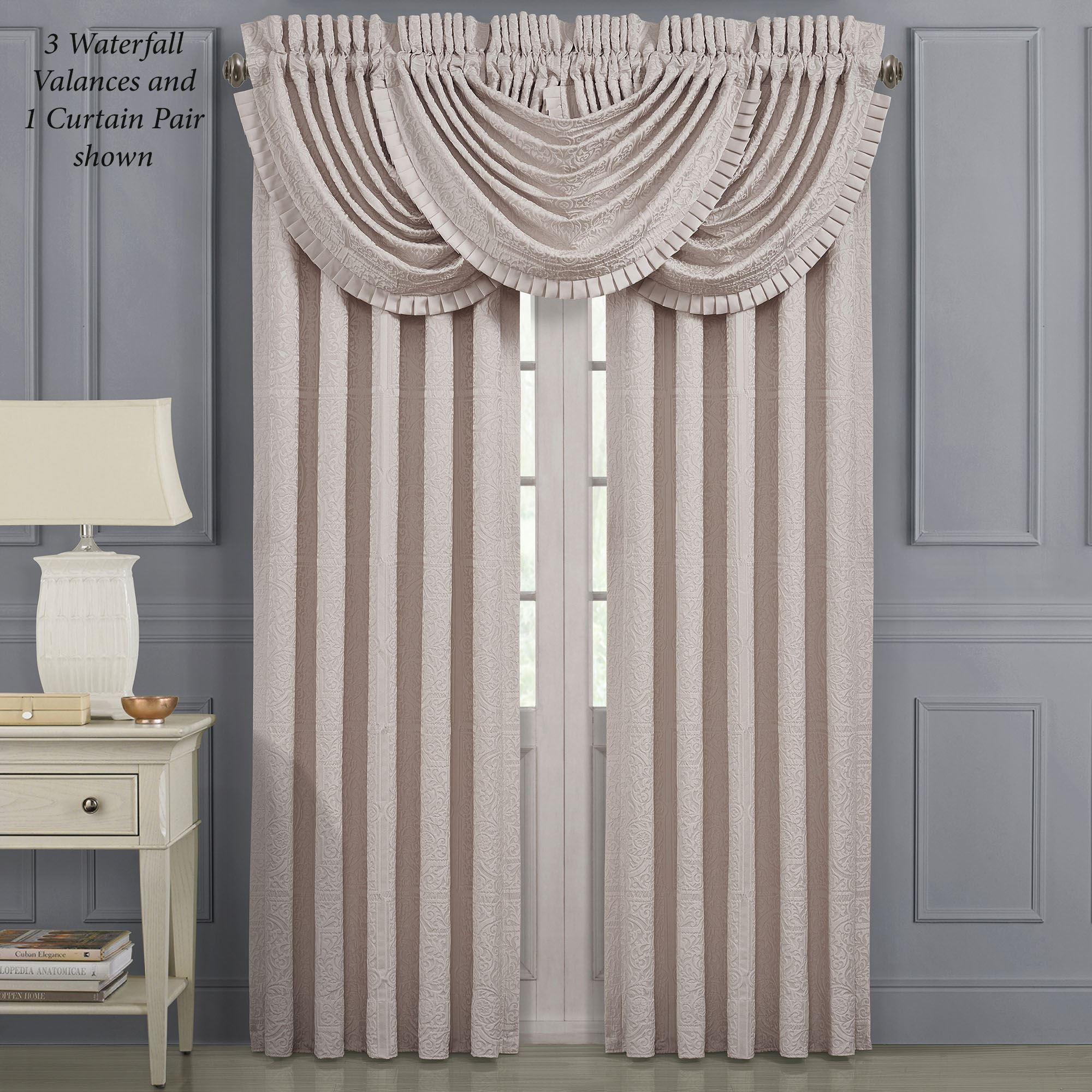 Rigoletto Ii Pale Pink Window Treatment By J Queen New York