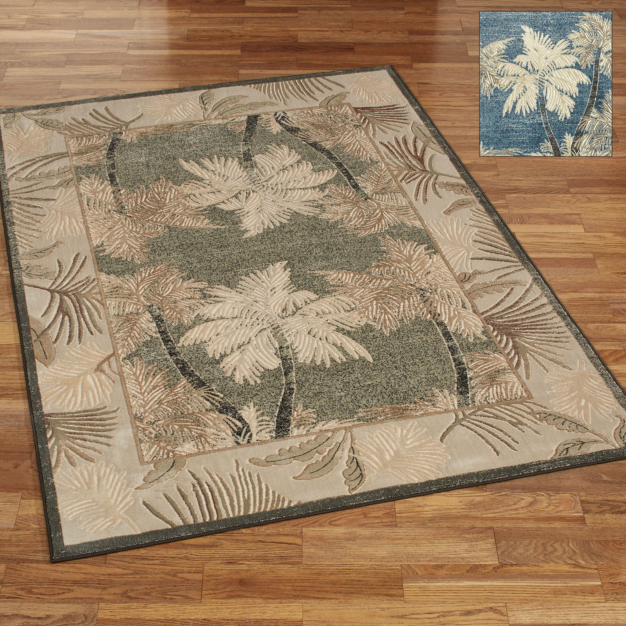 Panama Jack Lanai Palm Tree Tropical Area Rugs