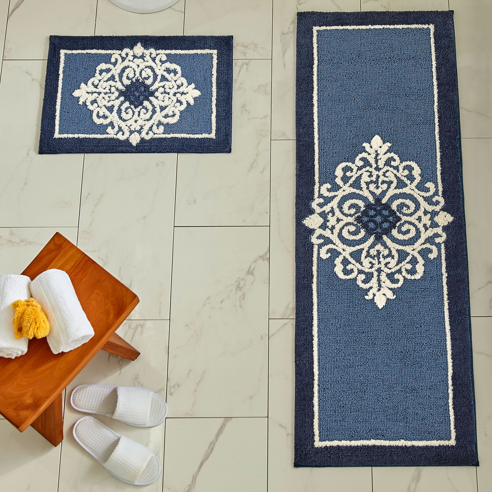 Griffin Medallion Nonskid Bath Rugs
