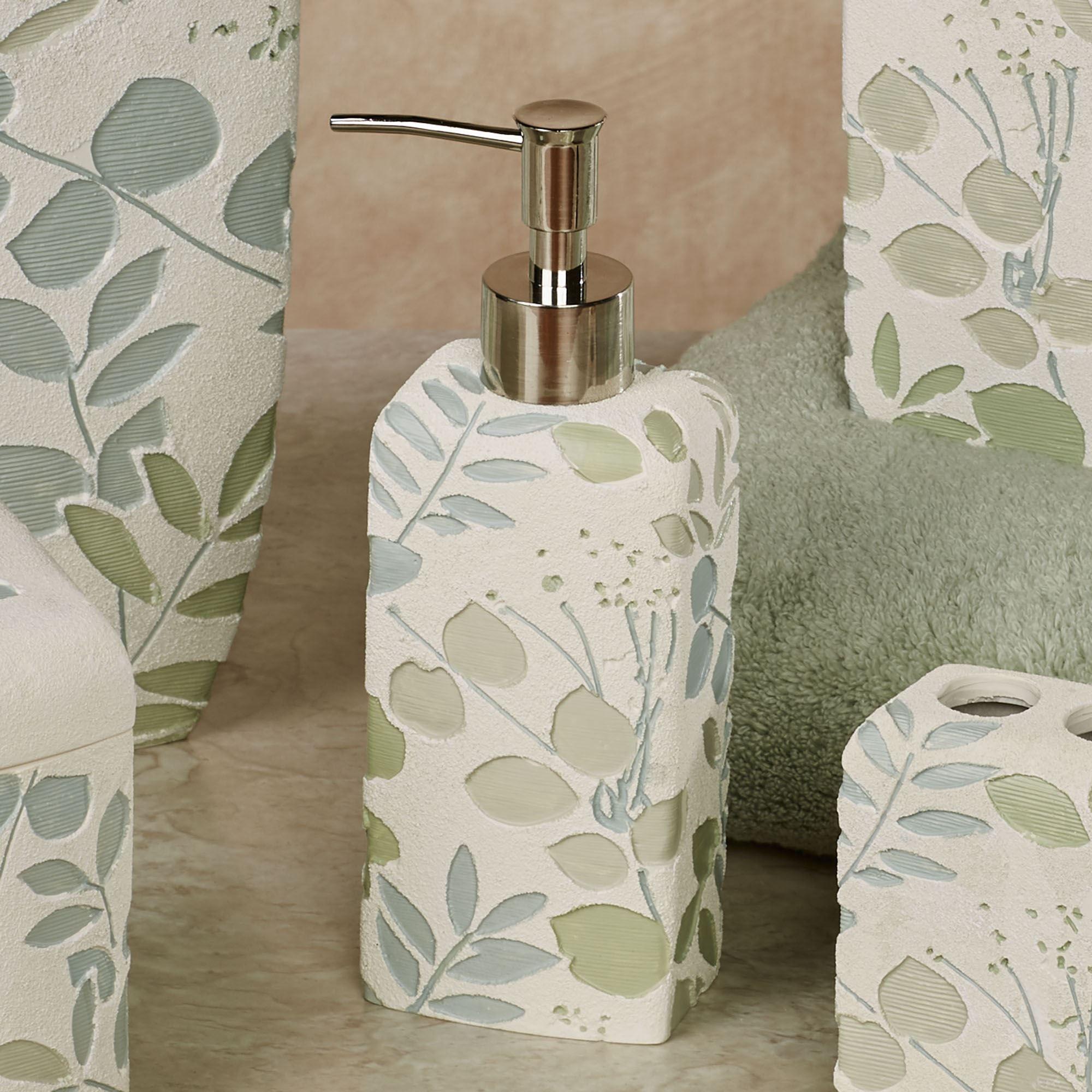 Springtime Botanical Leaf Bath Accessories