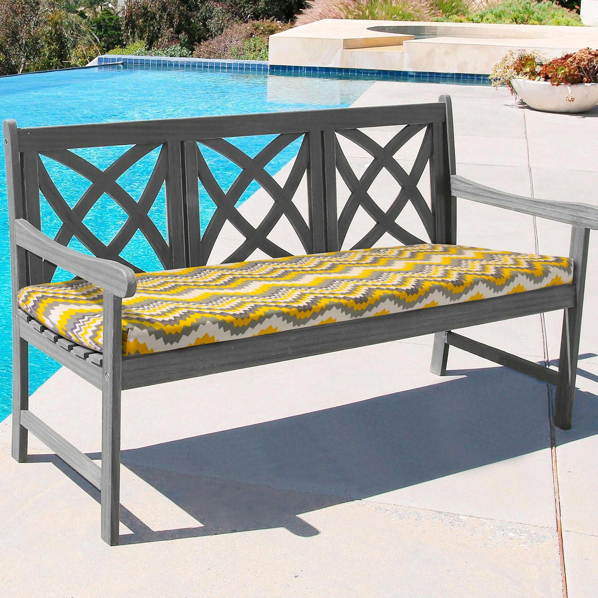 Outstanding Portola Reversible Chevron Indoor Outdoor Bench Seat Cushion Creativecarmelina Interior Chair Design Creativecarmelinacom