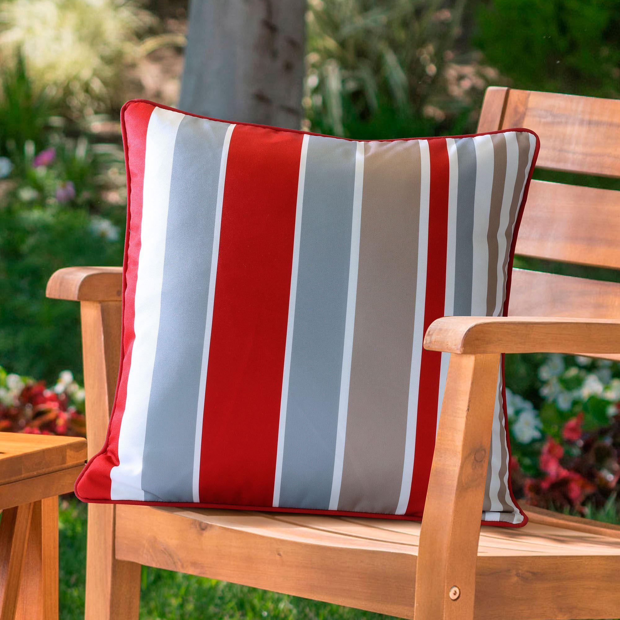 Fantastic Arcata Reversible Striped Indoor Outdoor Bench Seat Cushion Evergreenethics Interior Chair Design Evergreenethicsorg