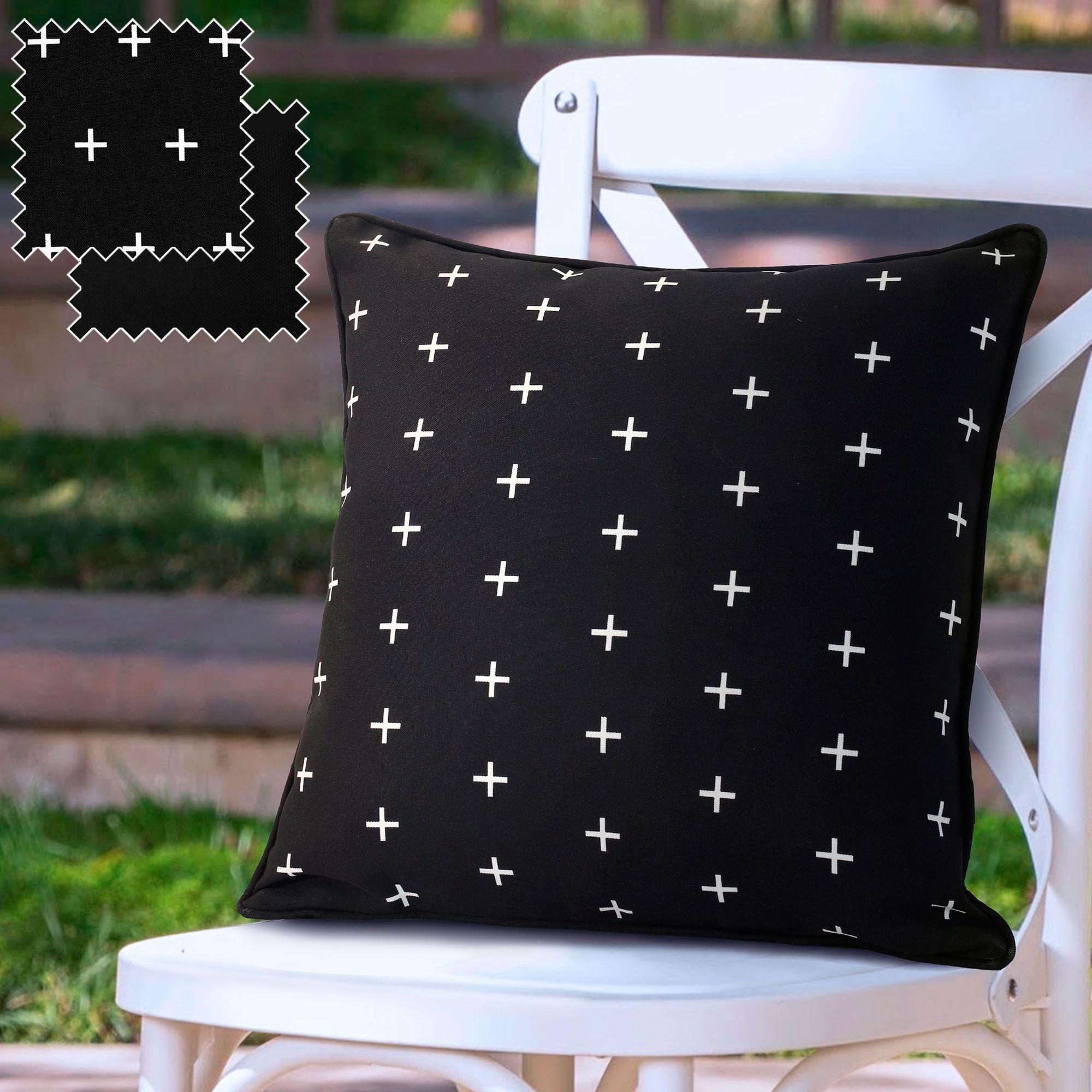 Excellent Covina Reversible Black Indoor Outdoor Bench Seat Cushion Evergreenethics Interior Chair Design Evergreenethicsorg
