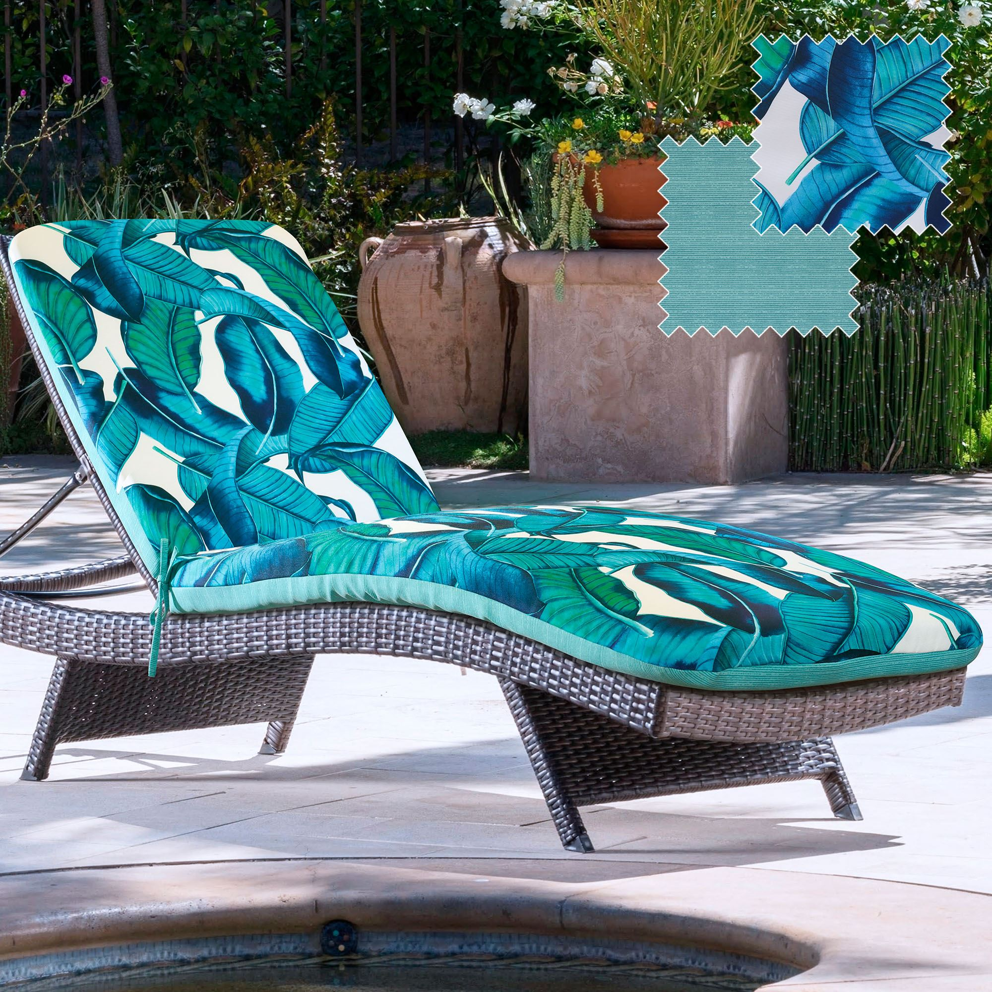 Curacao Reversible Tropical Indoor Outdoor Chaise Lounger