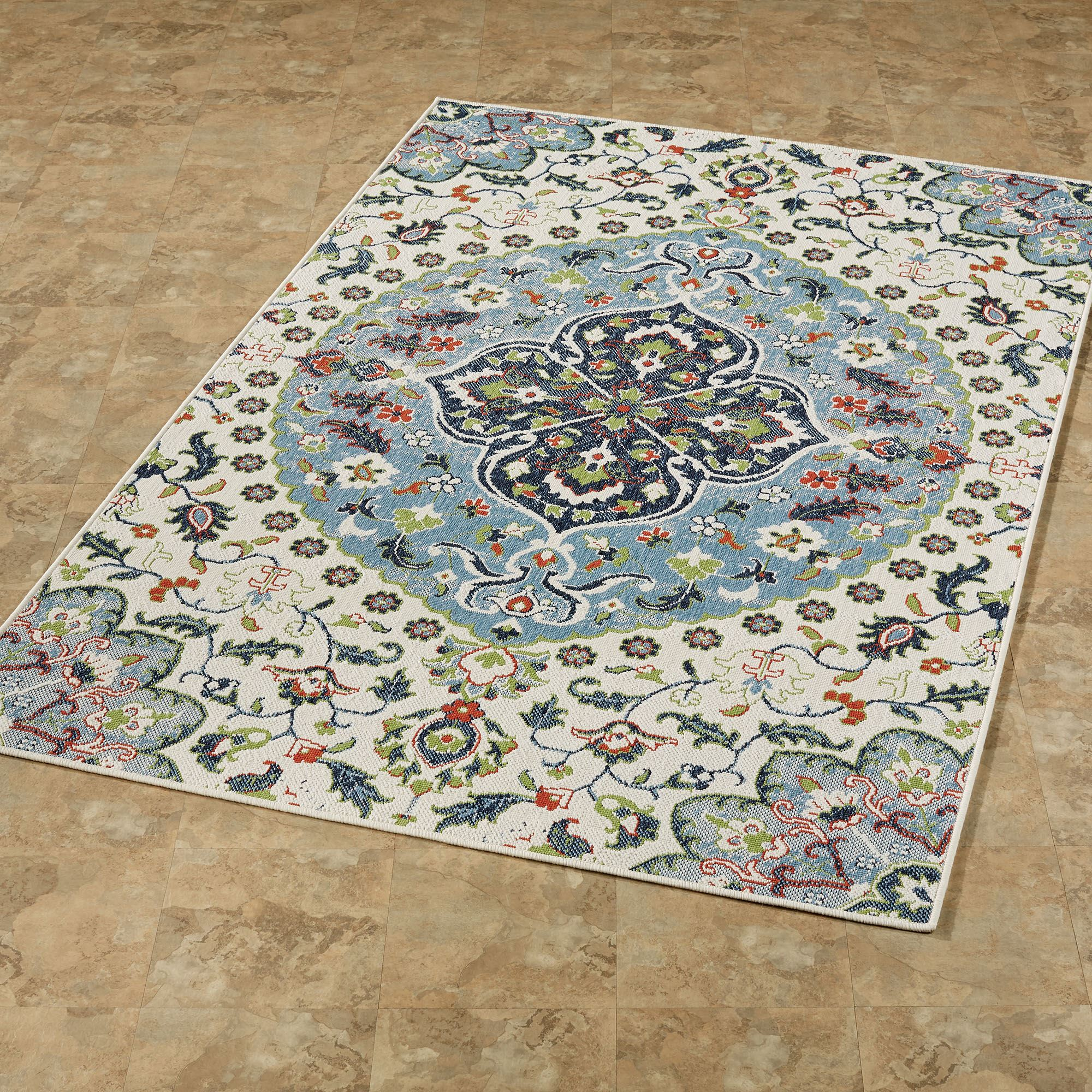 Annabeth Medallion Indoor Outdoor Rugs