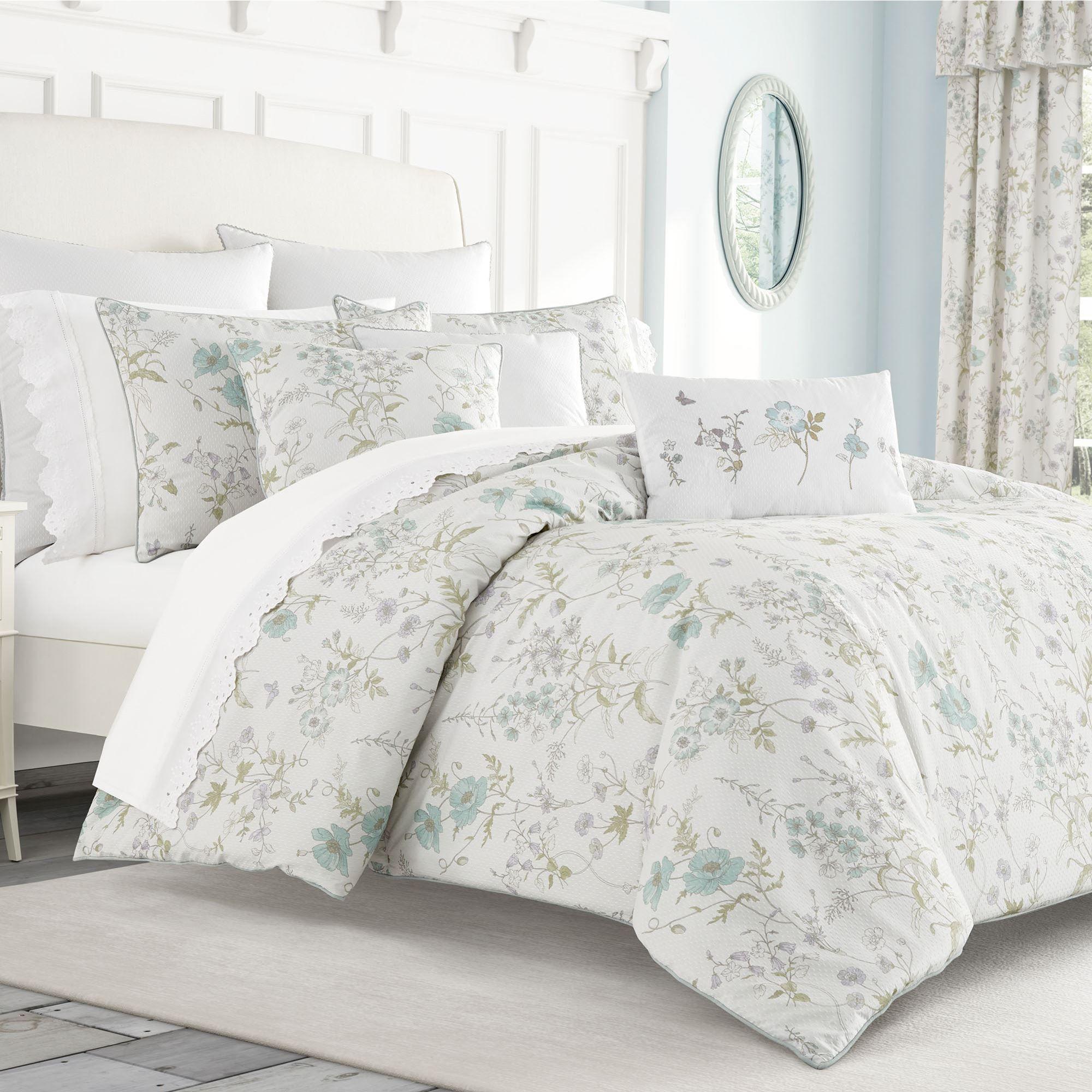 Katelyn Floral Off White Mini Comforter Set Bedding By