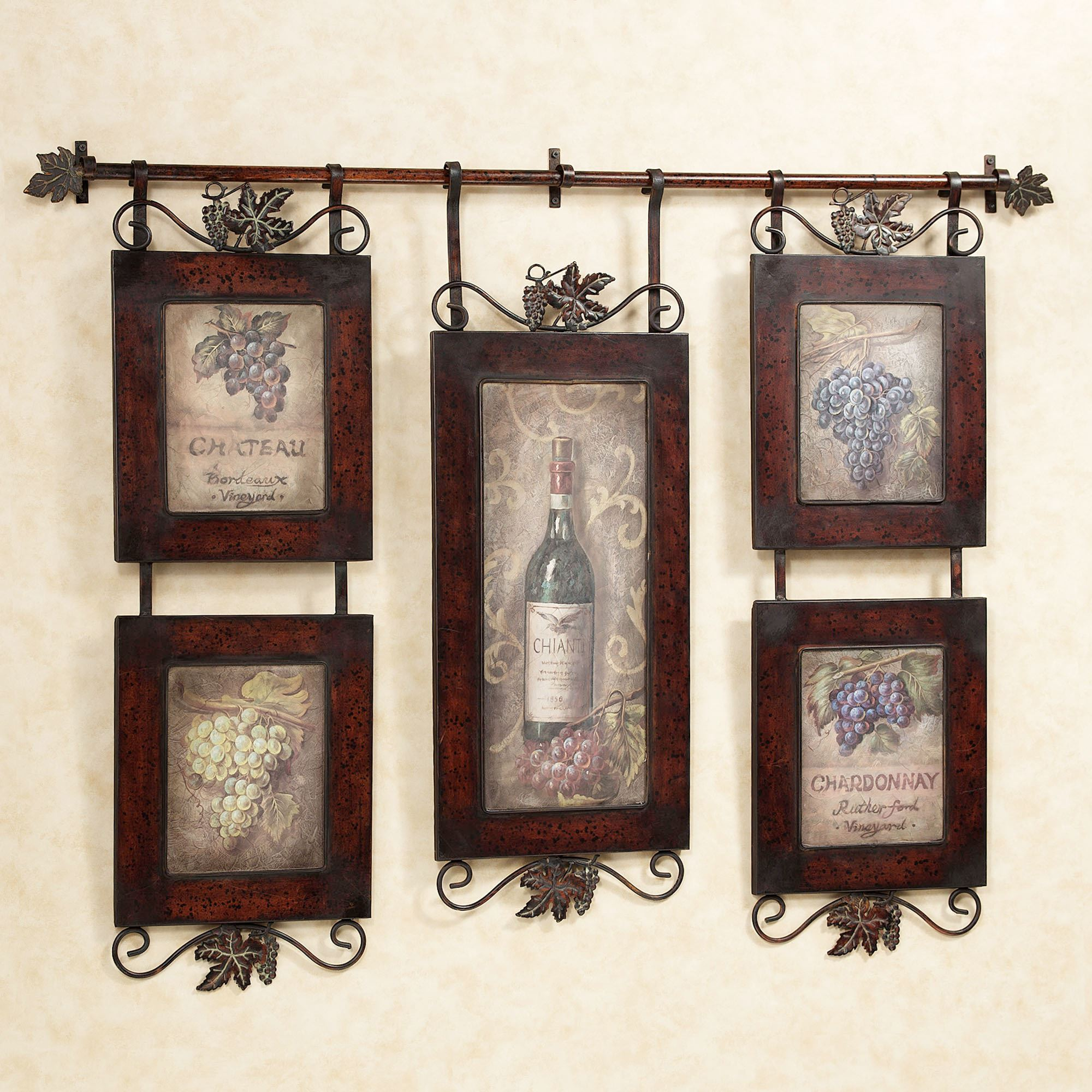 Kitchen Print Kitchen Wall Art Purple Kitchen Decor Gratitude: Emilion Wine Wall Art