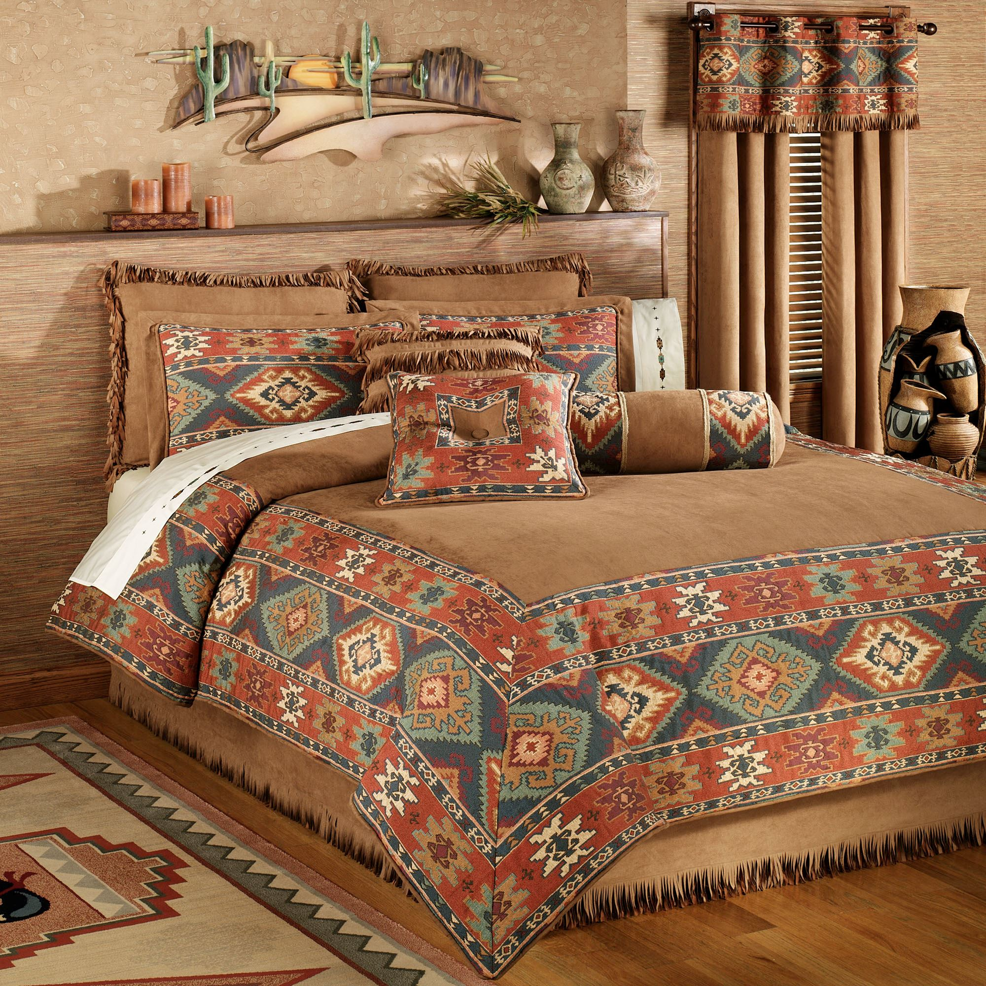 set bedding timber true ip comforter southwest walmart comforters southwestern com teal