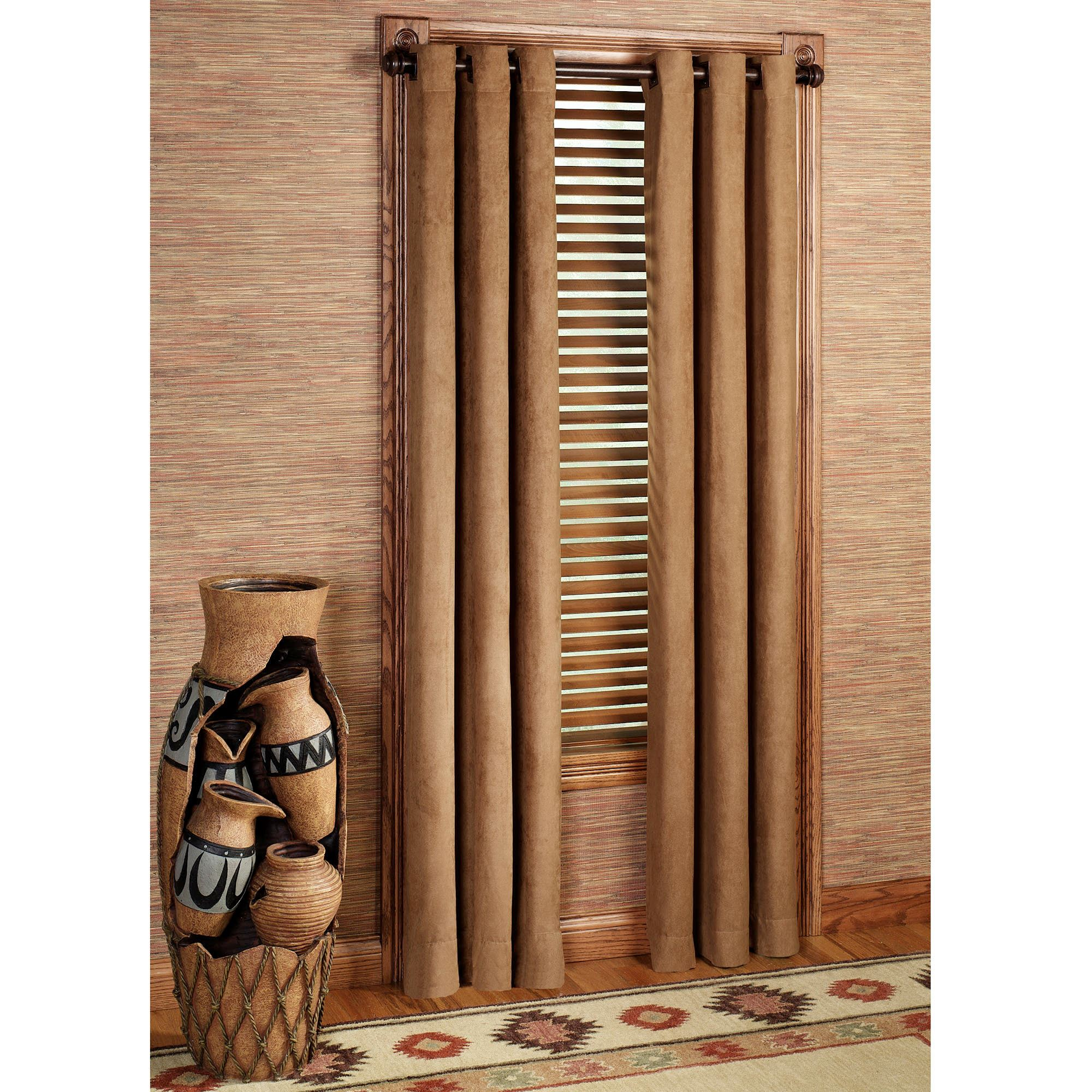 darkening wide each window set brown chocolate back blackout dp color per inch com loops panel drapes long curtain by room curtains amazon
