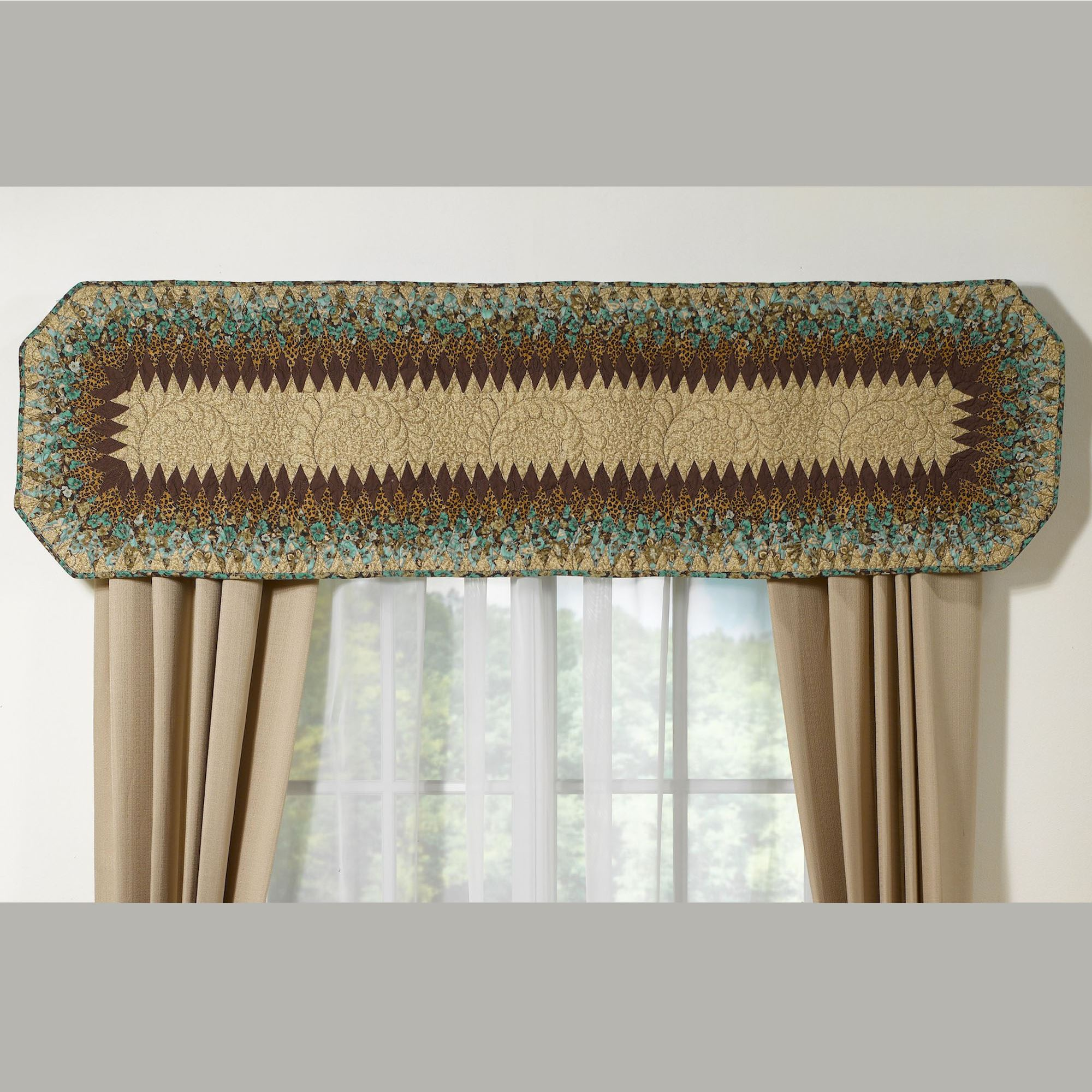 Sea Breeze Quilted Window Valance By Donna Sharp