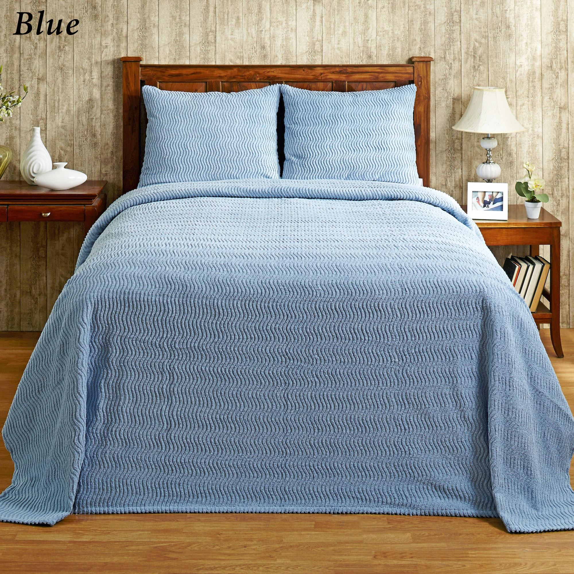 Natick Solid Color Lightweight Cotton Chenille Bedspread