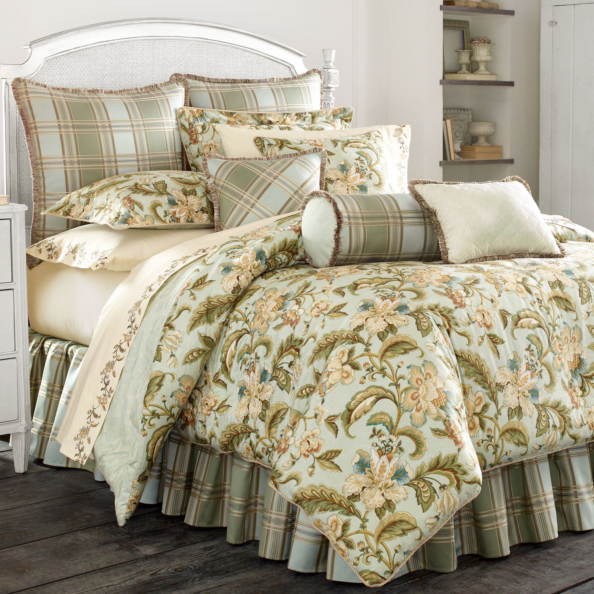 grey gray pin home plaid bedding mini comforter set kirkland