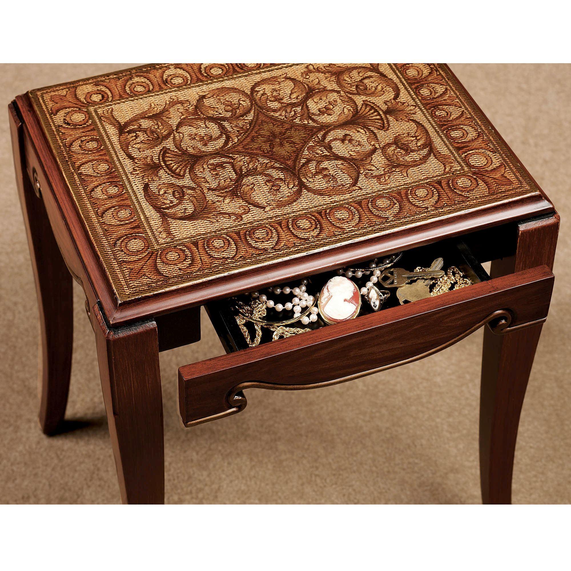 Wagner Nesting Table Set Rich Mahogany Set of Three